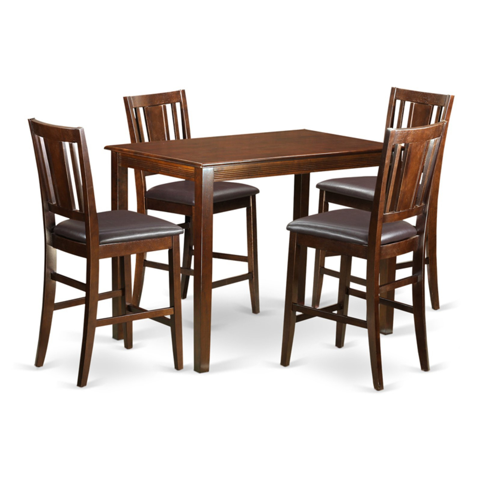 East West Furniture Yarmouth 5 Piece Scotch Art Dining Table Set In Best And Newest Sundberg 5 Piece Solid Wood Dining Sets (Image 4 of 20)