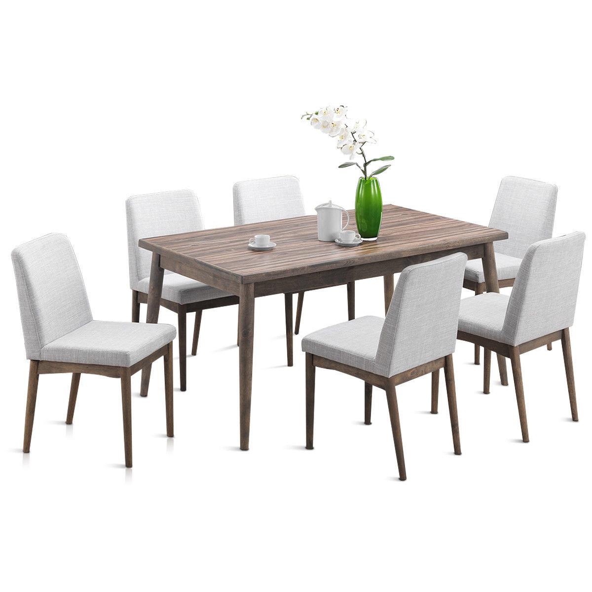 Ebel 7 Piece Dining Set Regarding Newest Travon 5 Piece Dining Sets (Photo 11 of 20)