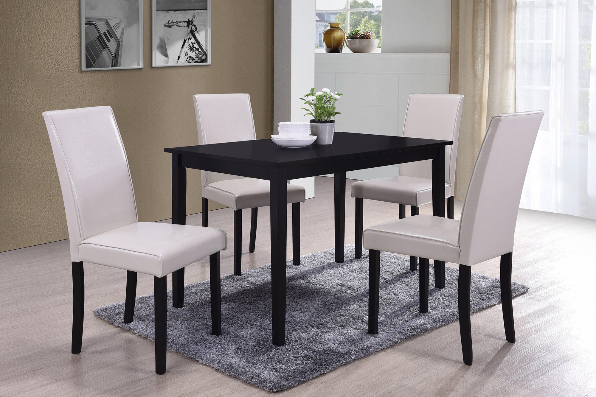 Ebern Designs Macneil 5 Piece Dining Set Intended For Best And Newest Travon 5 Piece Dining Sets (View 3 of 20)