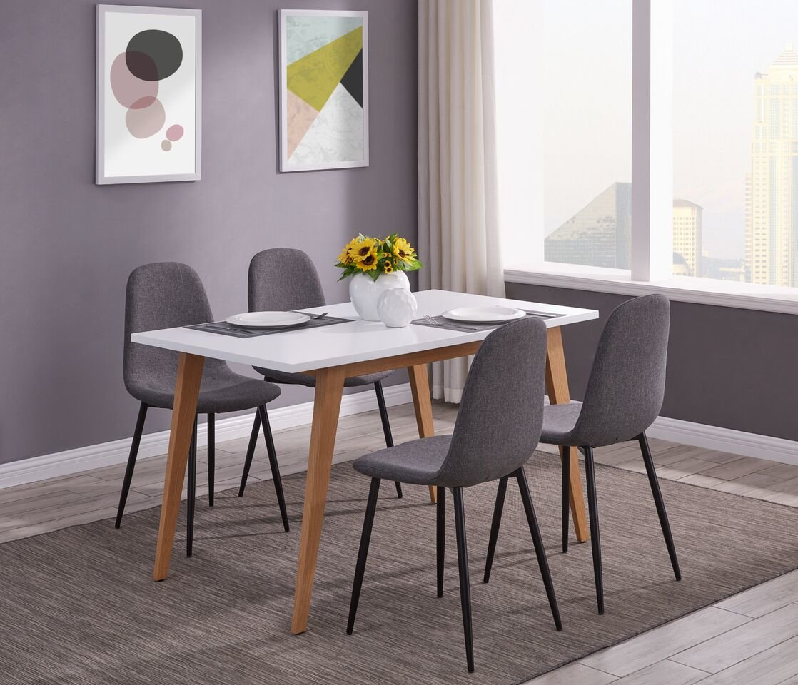 Eddie 5 Pieces Dining Set With Recent Wiggs 5 Piece Dining Sets (View 11 of 20)