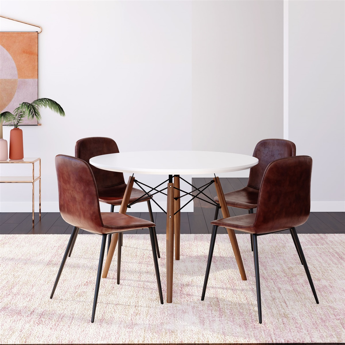 Eiffel Round Dining Table (Large) Pertaining To Recent Moorehead 3 Piece Counter Height Dining Sets (View 17 of 20)