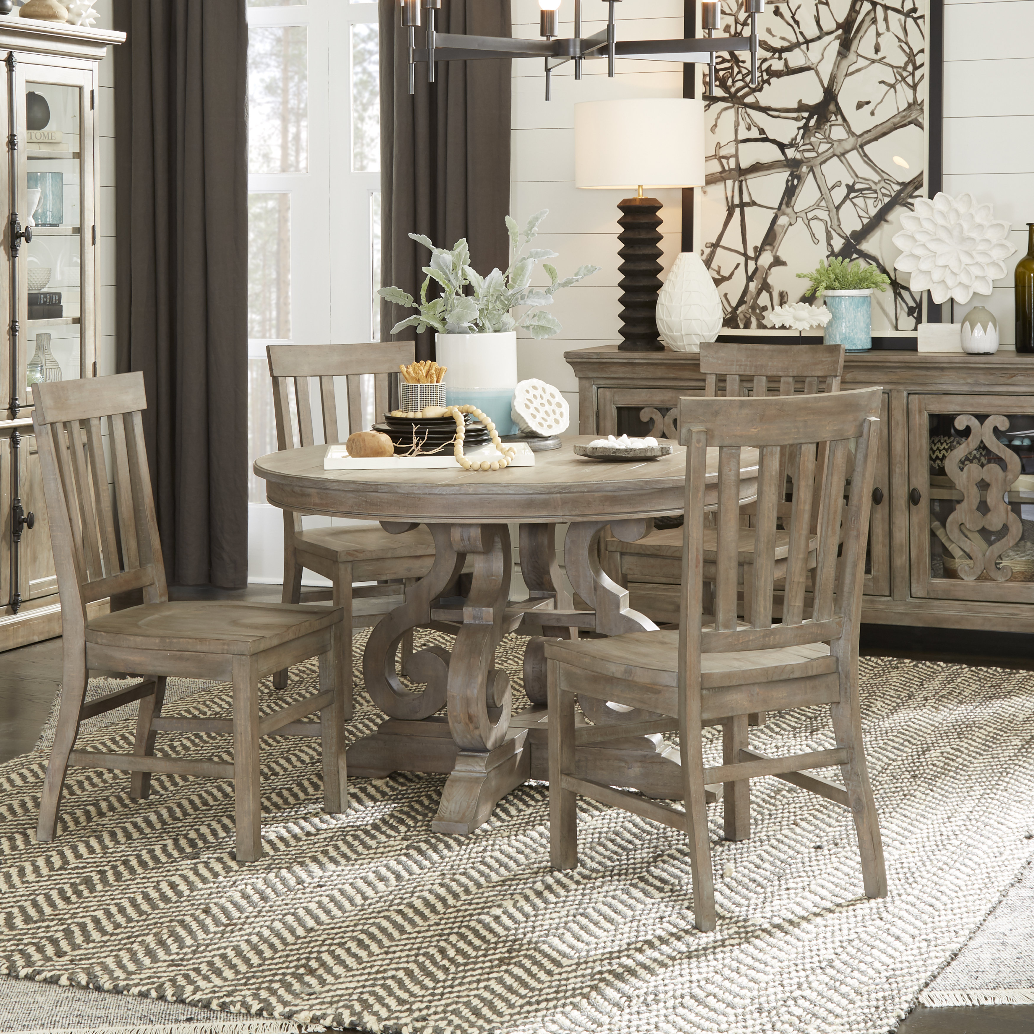 Ellenton 5 Piece Solid Wood Dining Set Within Most Recently Released Yedinak 5 Piece Solid Wood Dining Sets (Photo 3 of 20)