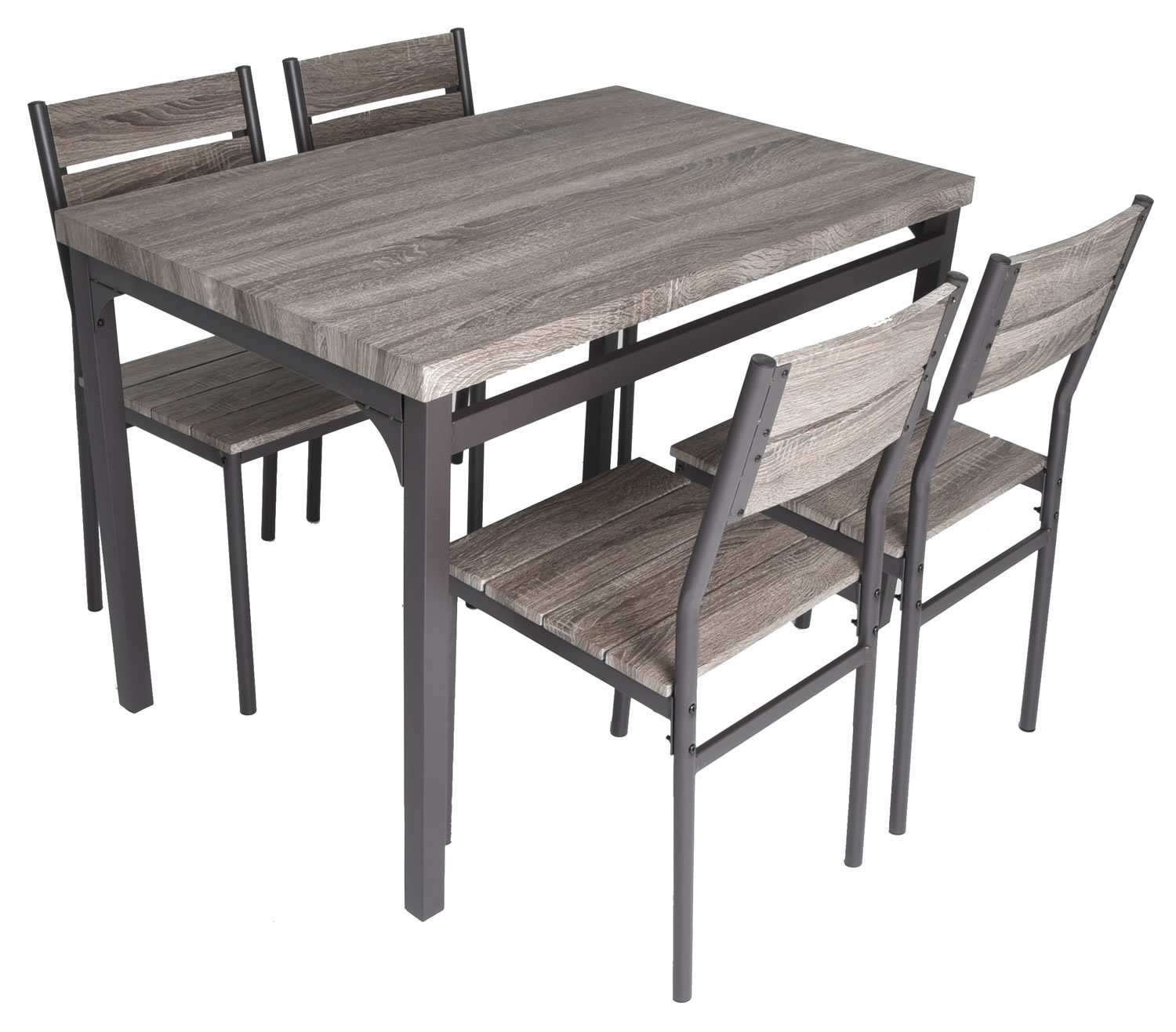 Emmeline 5 Piece Breakfast Nook Dining Set Throughout Latest Yedinak 5 Piece Solid Wood Dining Sets (Photo 14 of 20)
