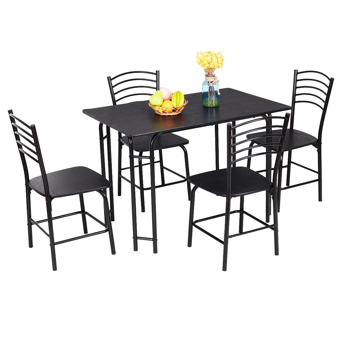 Ephraim 5 Piece Dining Set Pertaining To Most Popular Lightle 5 Piece Breakfast Nook Dining Sets (Image 9 of 20)