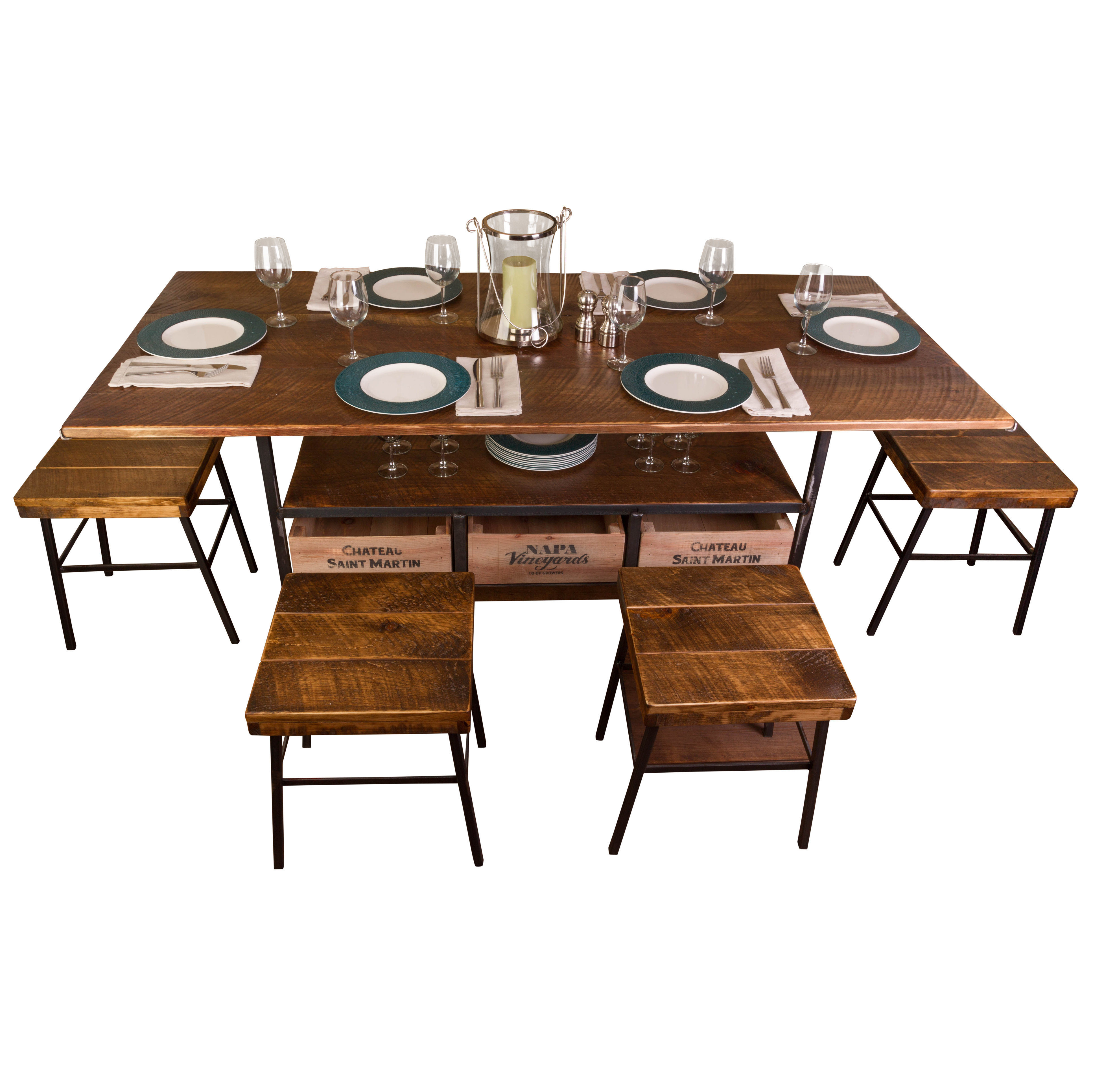 Farm 7 Piece Dining Table For Most Up To Date Shepparton Vintage 3 Piece Dining Sets (View 8 of 20)