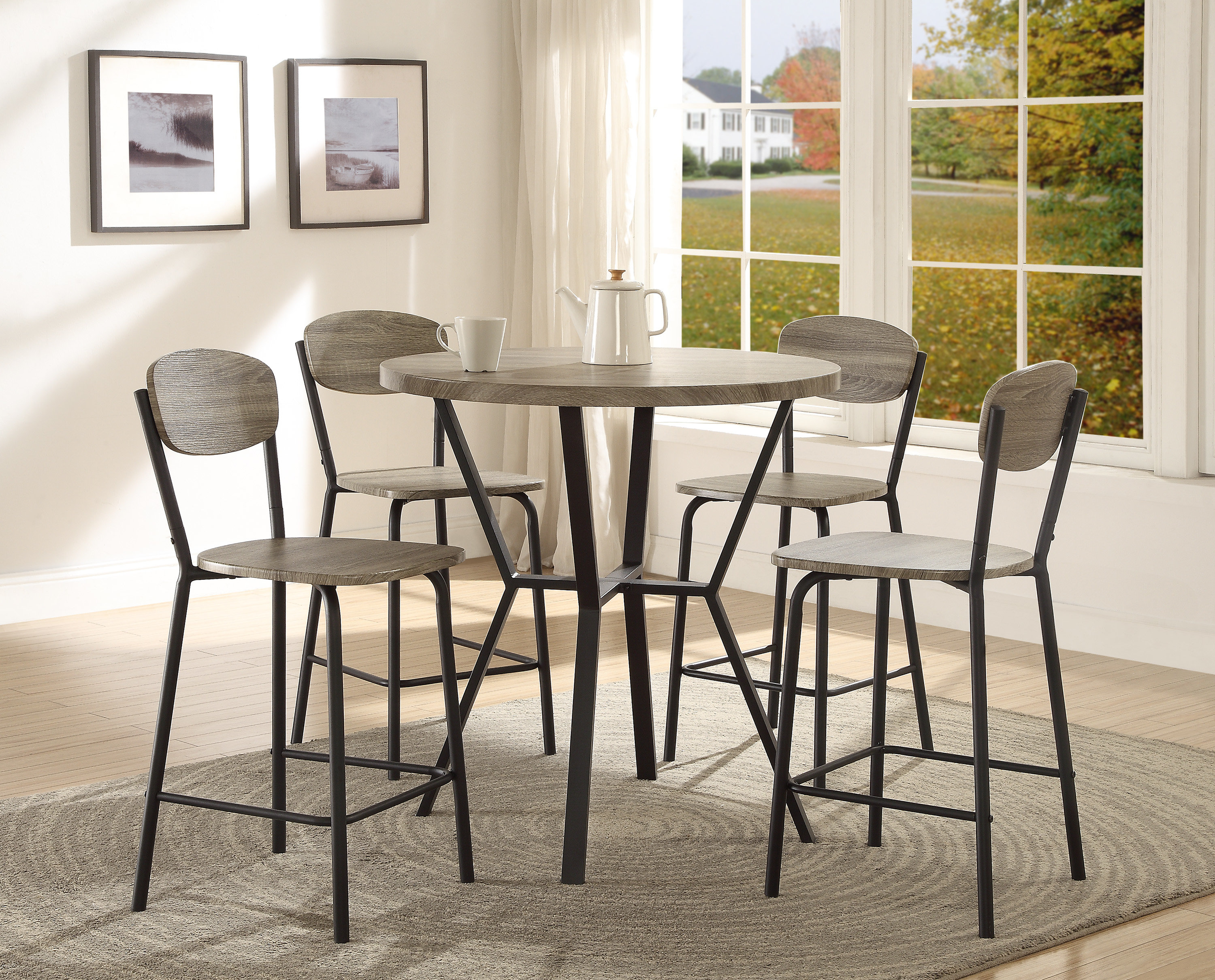 Felicia 5 Piece Counter Height Dining Set Regarding Most Recent Middleport 5 Piece Dining Sets (View 12 of 20)