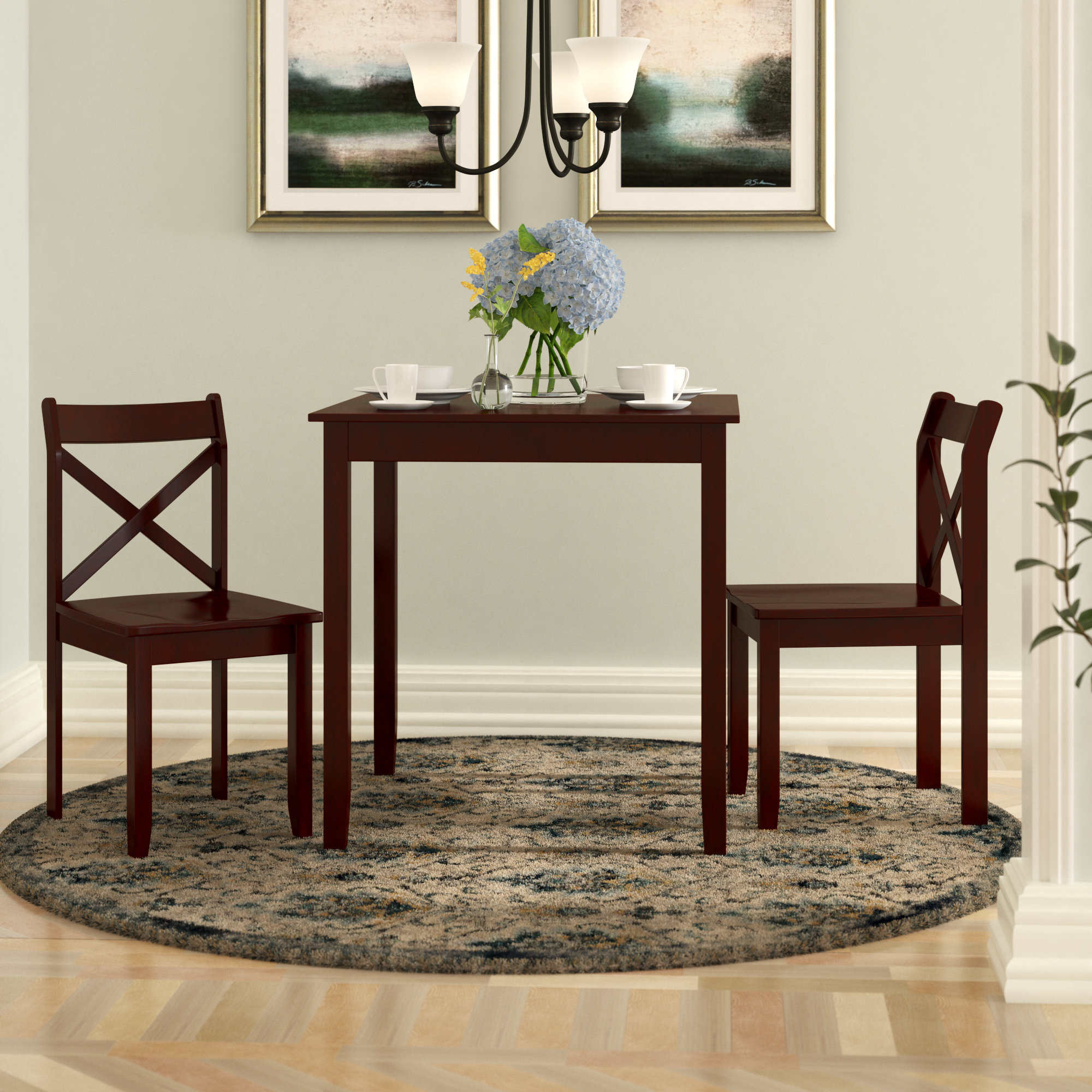 Flossmoor 3 Piece Dining Set With Current Kinsler 3 Piece Bistro Sets (View 7 of 20)