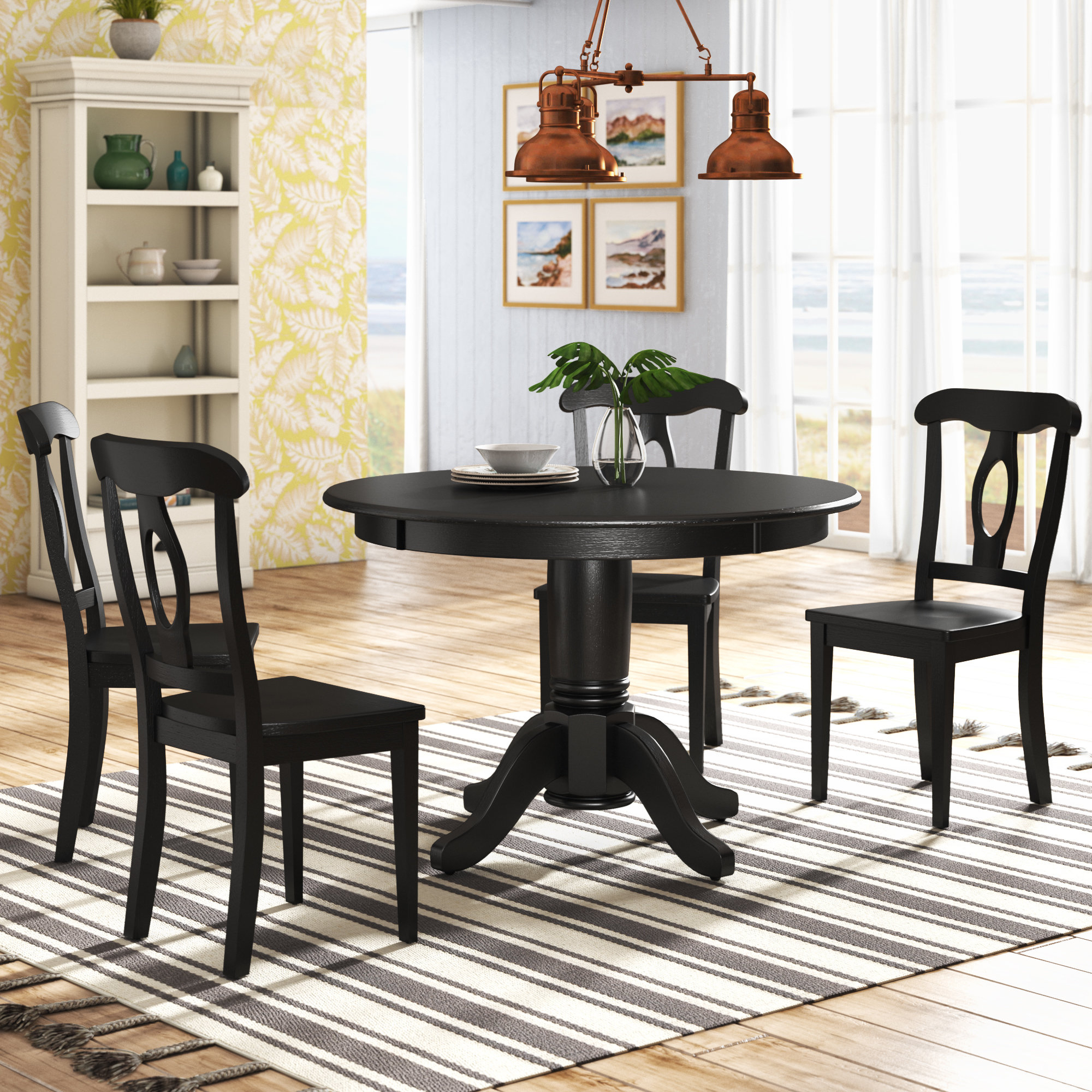 Four Piece Dining Set – Summervilleaugusta For Most Current Mukai 5 Piece Dining Sets (View 19 of 20)