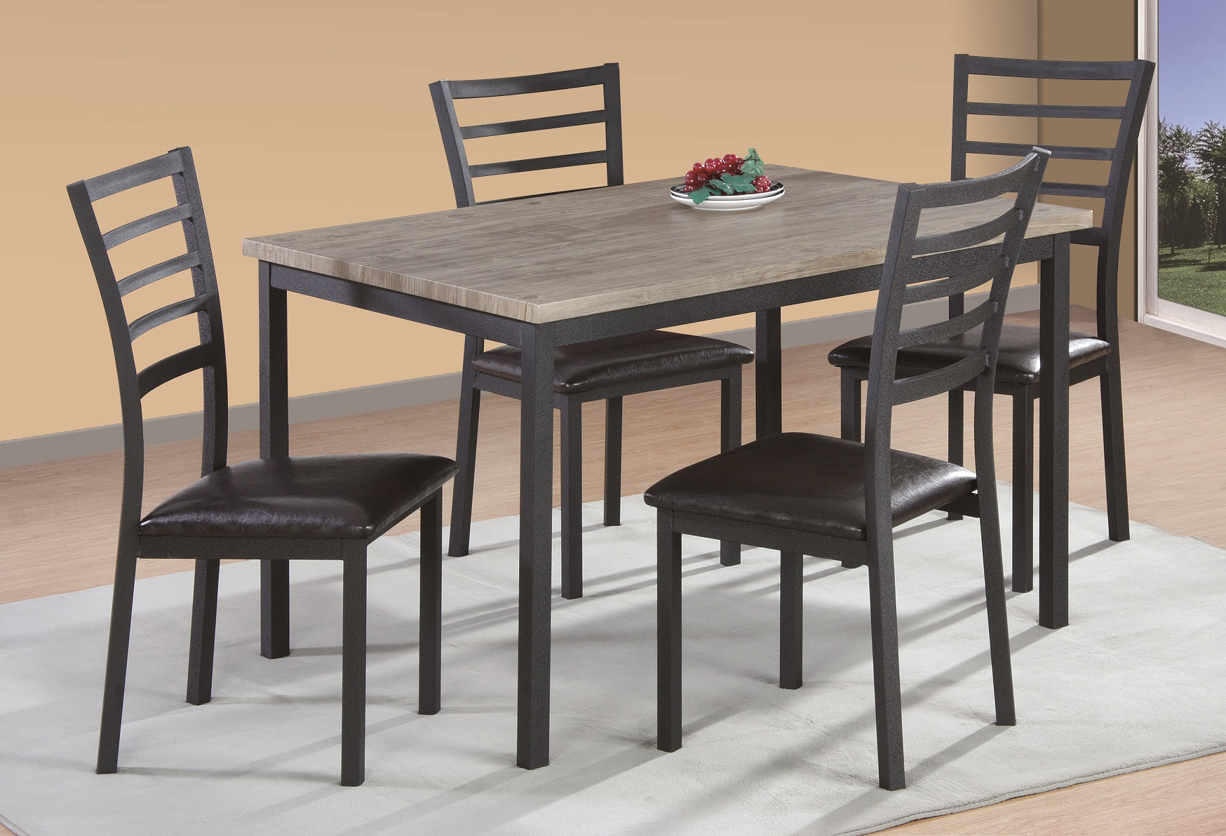 Frankie 5 Piece Dining Set Throughout Latest Pattonsburg 5 Piece Dining Sets (View 18 of 20)