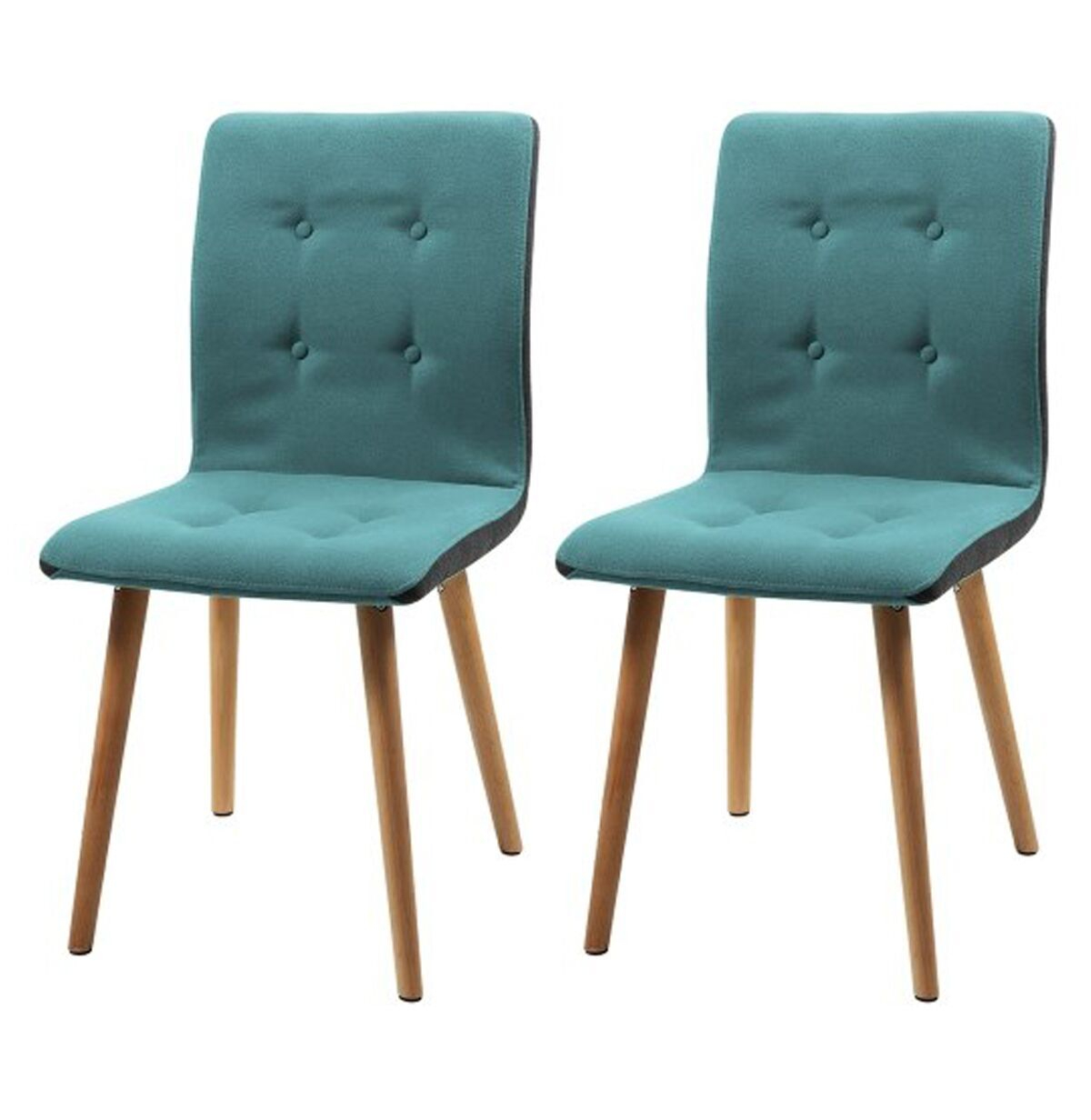 Frida Dining Chairs Teal Coloured Fabric (Pair) With Regard To Most Current Frida 3 Piece Dining Table Sets (View 14 of 20)
