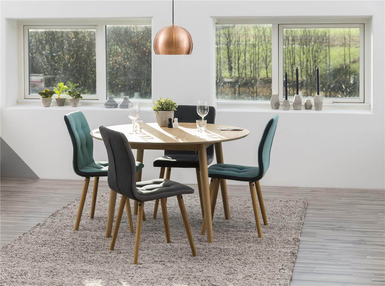 Frida Fabric Teal Dining Chairs | Dining Chairs | Fads Inside Most Recently Released Frida 3 Piece Dining Table Sets (Photo 18 of 20)