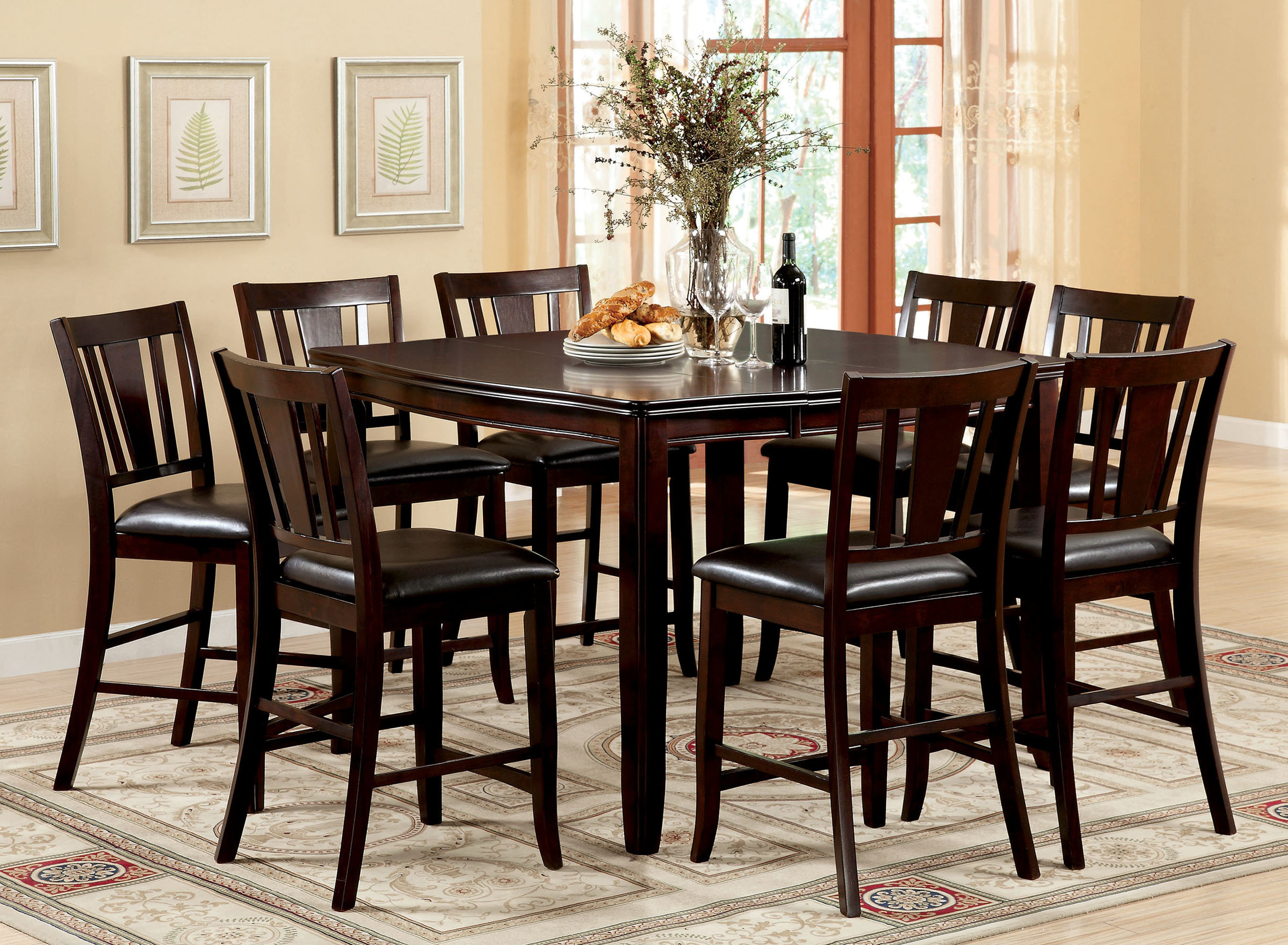 Fritz Jimmy 9 Piece Counter Height Dining Set Regarding Newest Biggs 5 Piece Counter Height Solid Wood Dining Sets (Set Of 5) (View 2 of 20)