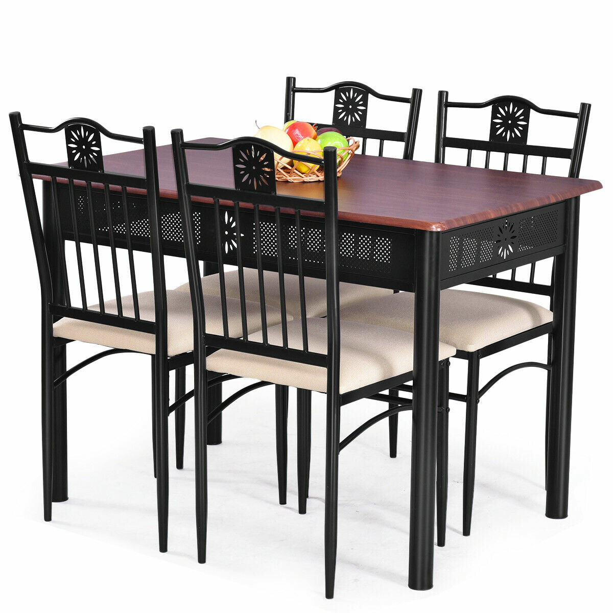 Ganya 5 Piece Dining Set Within 2017 Miskell 3 Piece Dining Sets (Image 12 of 20)