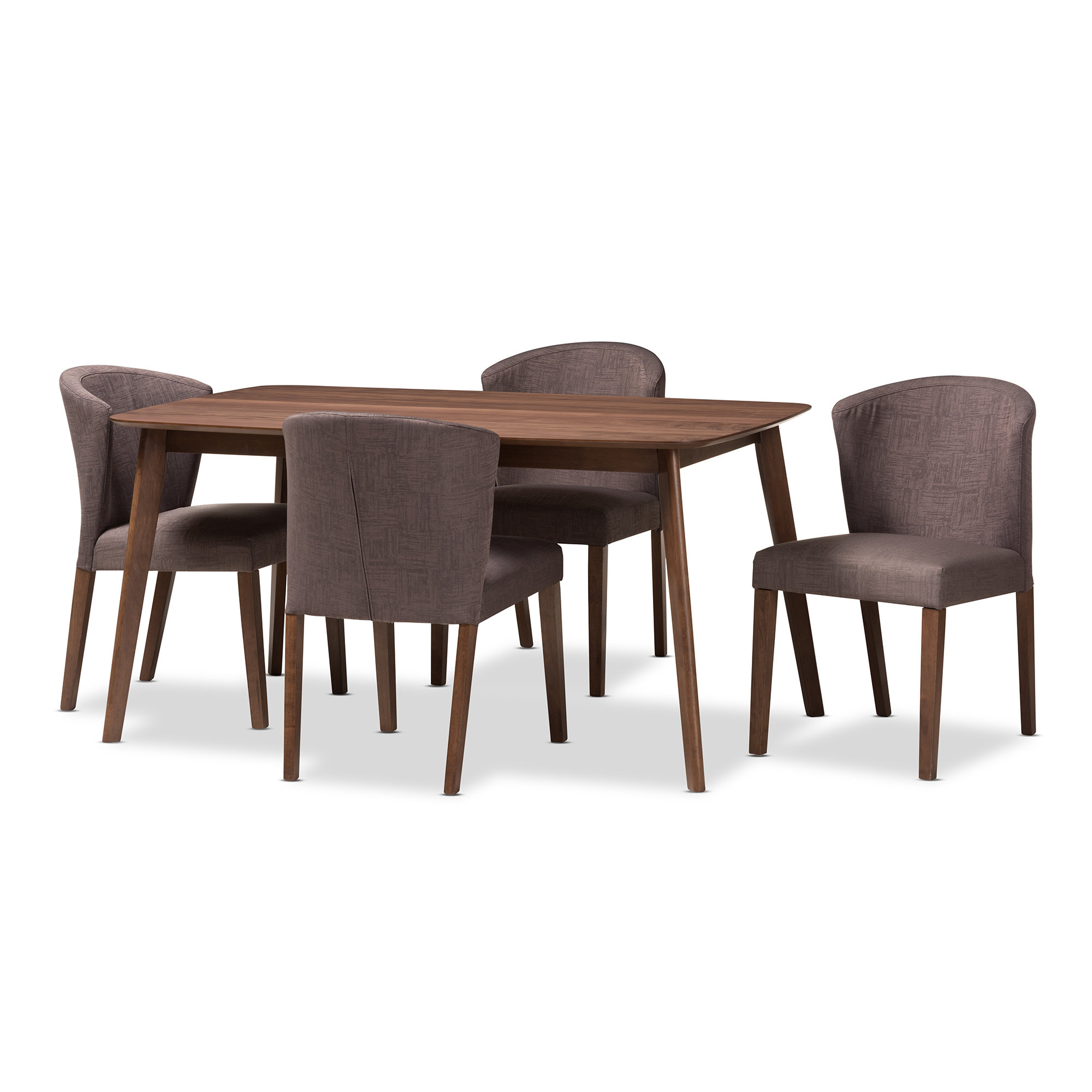 George Oliver Dingler Mid Century Wood 5 Piece Dining Set With Regard To Current Tejeda 5 Piece Dining Sets (View 14 of 20)