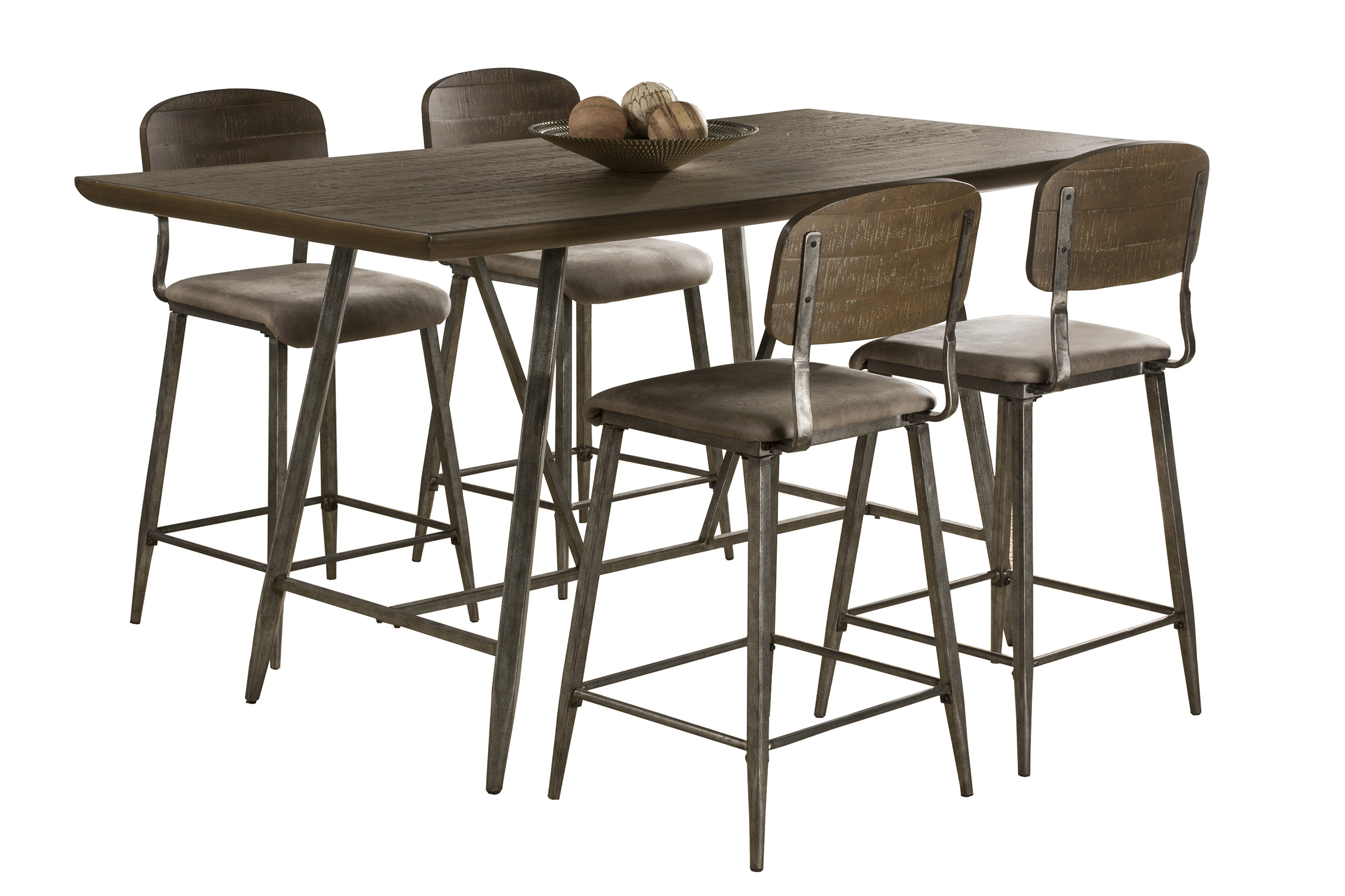 Georgia 5 Piece Counter Height Dining Set With Regard To Current Telauges 5 Piece Dining Sets (View 13 of 20)