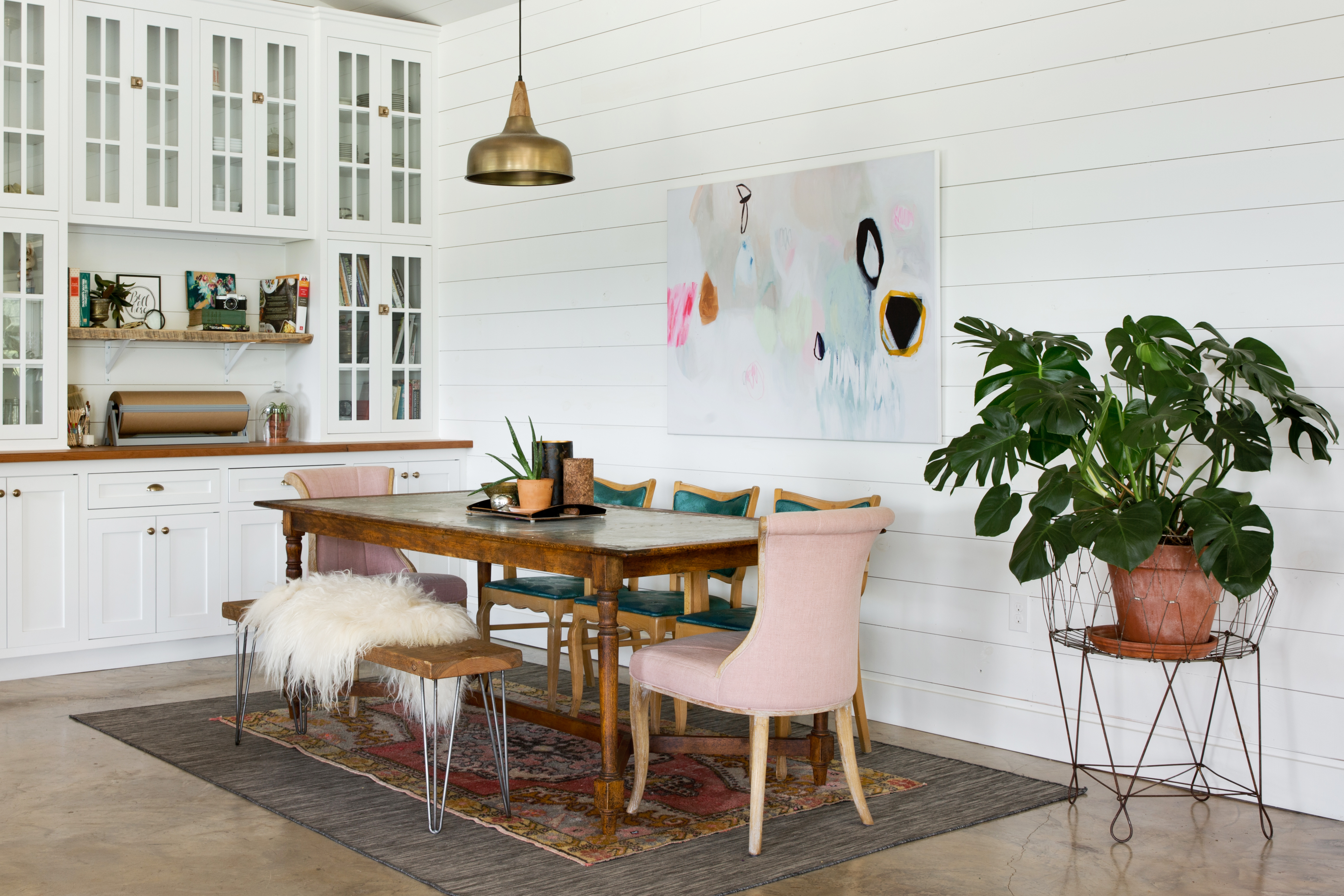 Get The Look Of This Layered, Rustic Glam Dining Room | Apartment With Regard To Best And Newest Partin 3 Piece Dining Sets (Image 10 of 20)