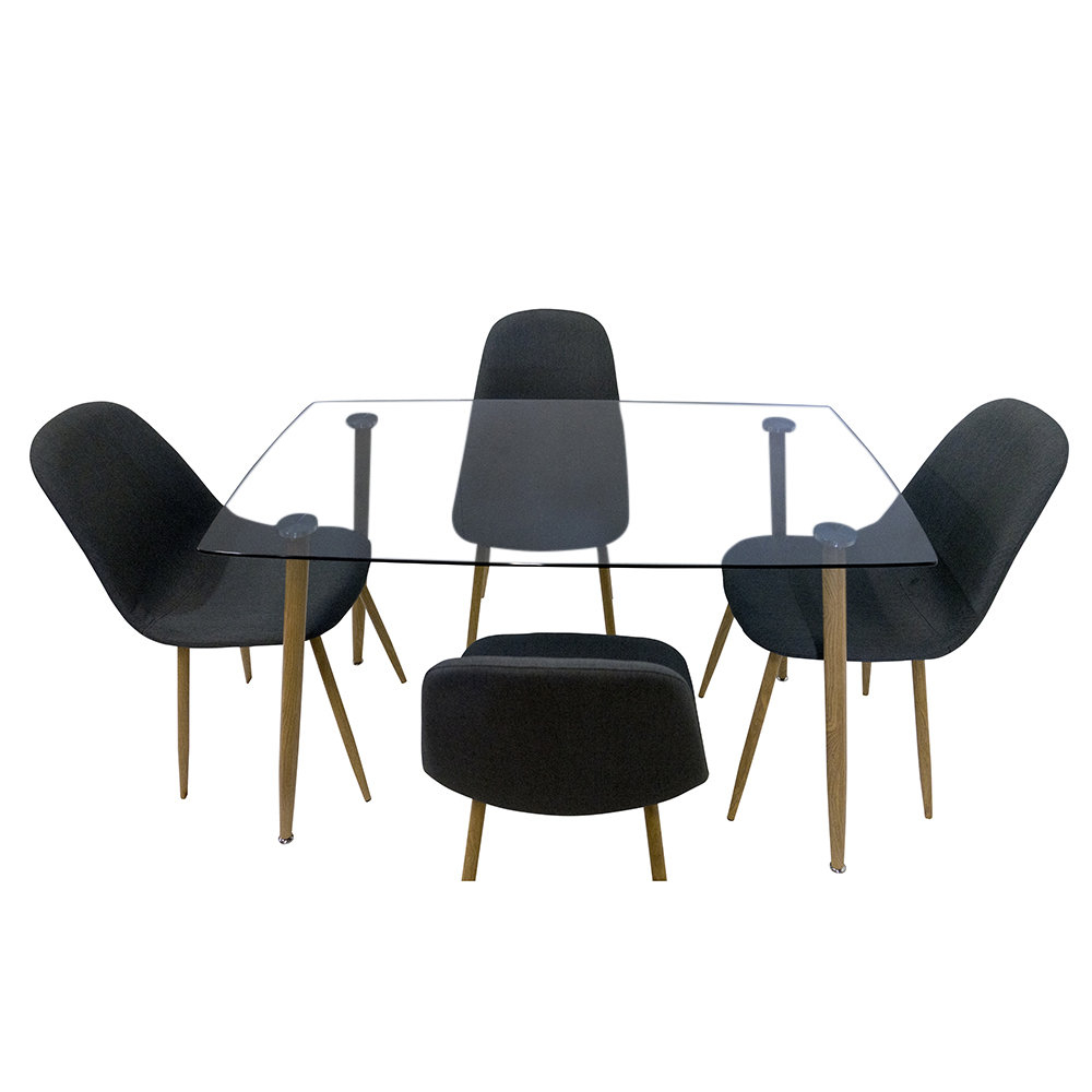 Gillian 5 Piece Dining Set Inside Most Up To Date Linette 5 Piece Dining Table Sets (Photo 13 of 20)