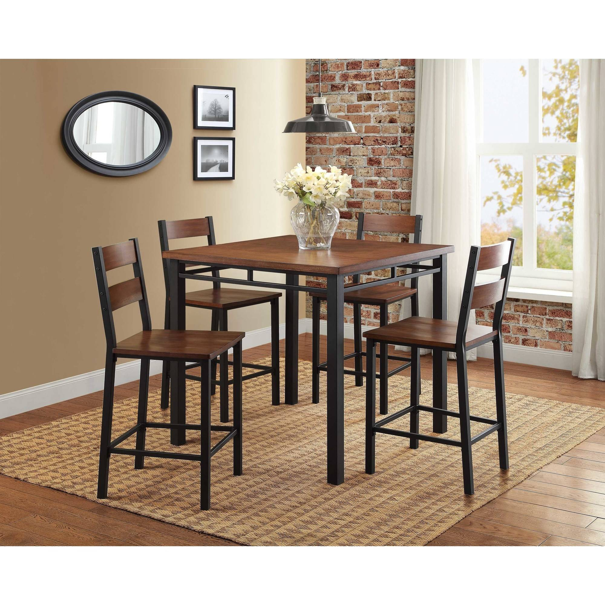 Glamorous 3 Piece Counter Height Kitchen Sets Chairs Setup Chair Throughout Recent Winsome 3 Piece Counter Height Dining Sets (Image 3 of 20)