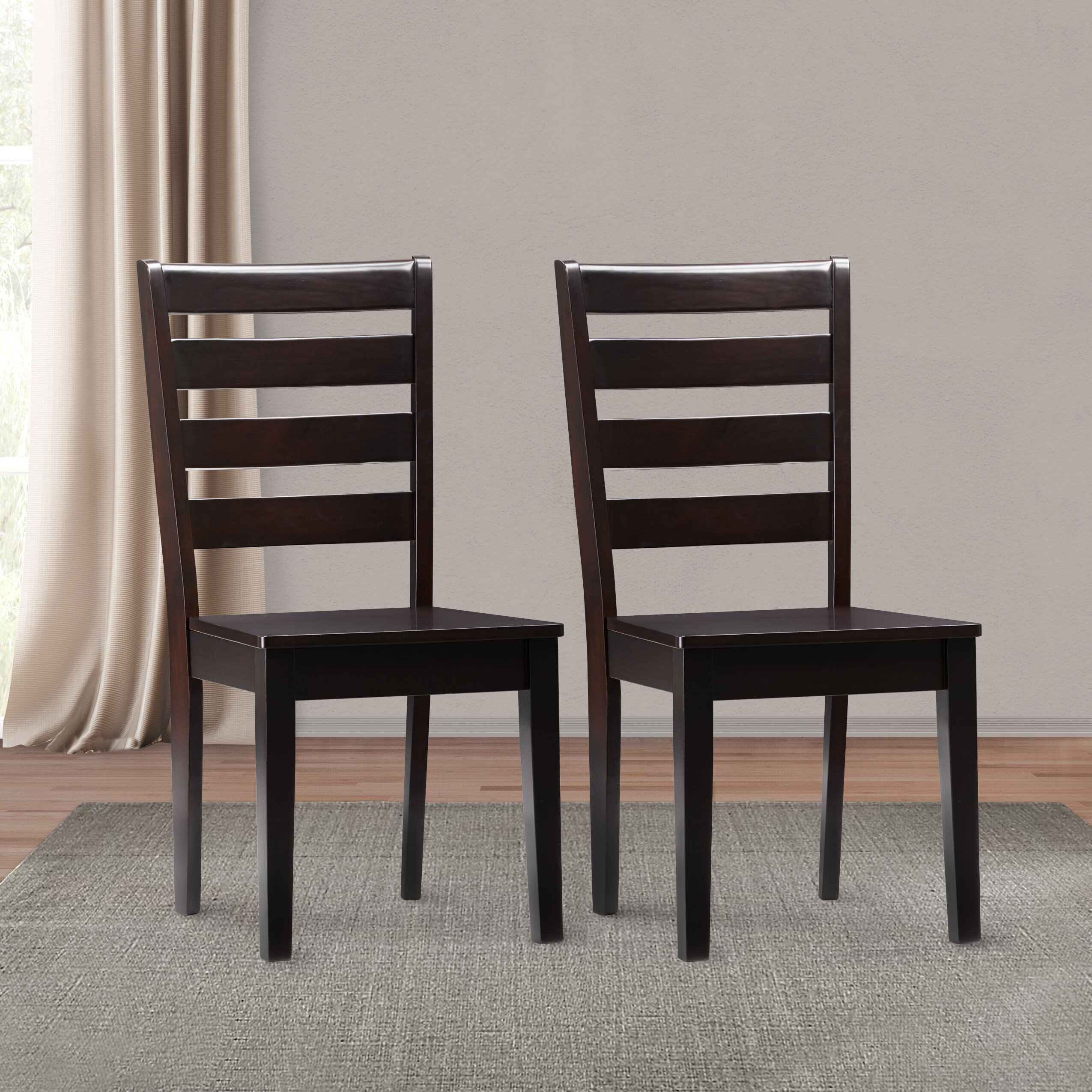 Goodman Solid Wood Dining Chair Intended For Latest Goodman 5 Piece Solid Wood Dining Sets (Set Of 5) (Image 12 of 20)