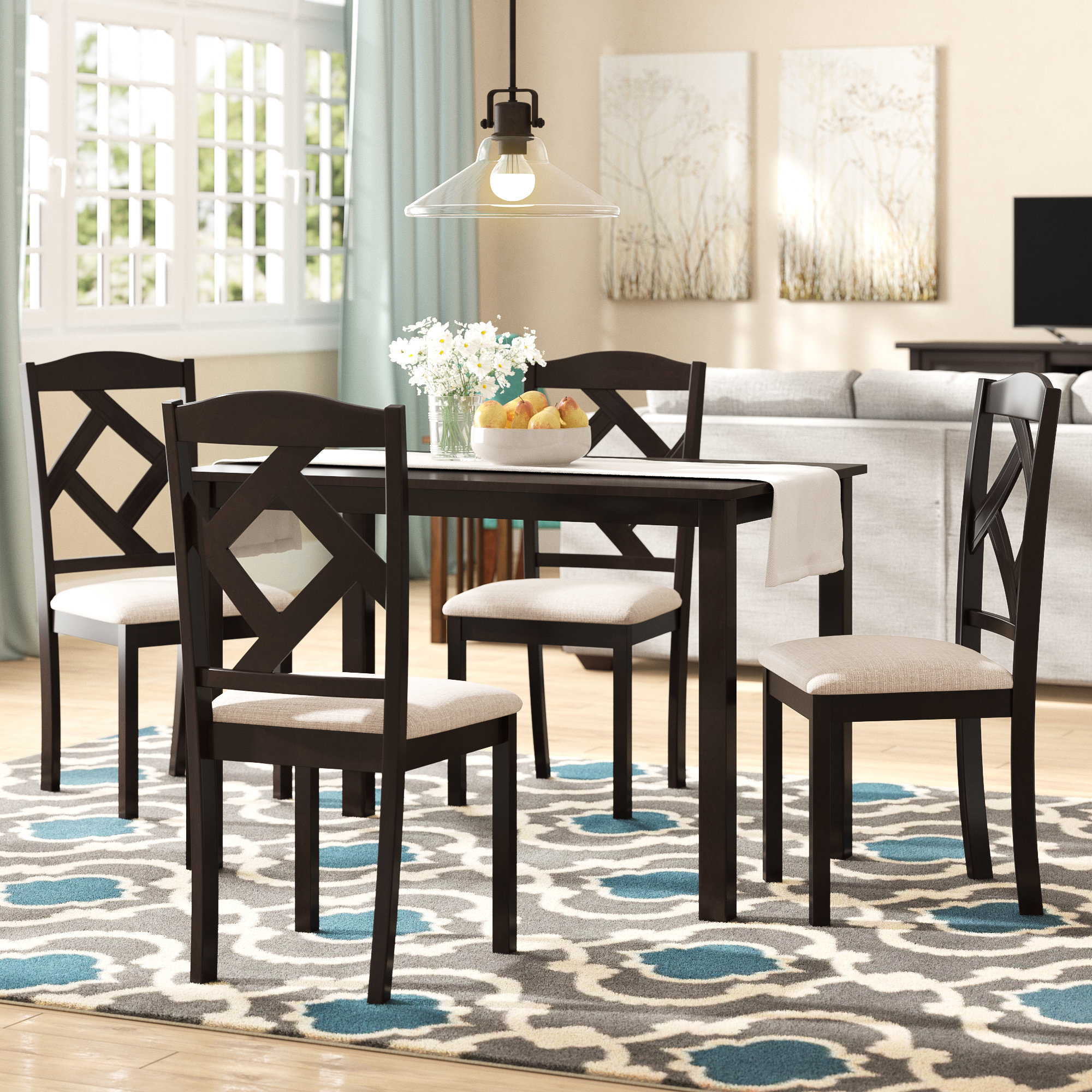 Goosman Modern And Contemporary 5 Piece Breakfast Nook Dining Set Intended For Latest Ganya 5 Piece Dining Sets (Photo 16 of 20)