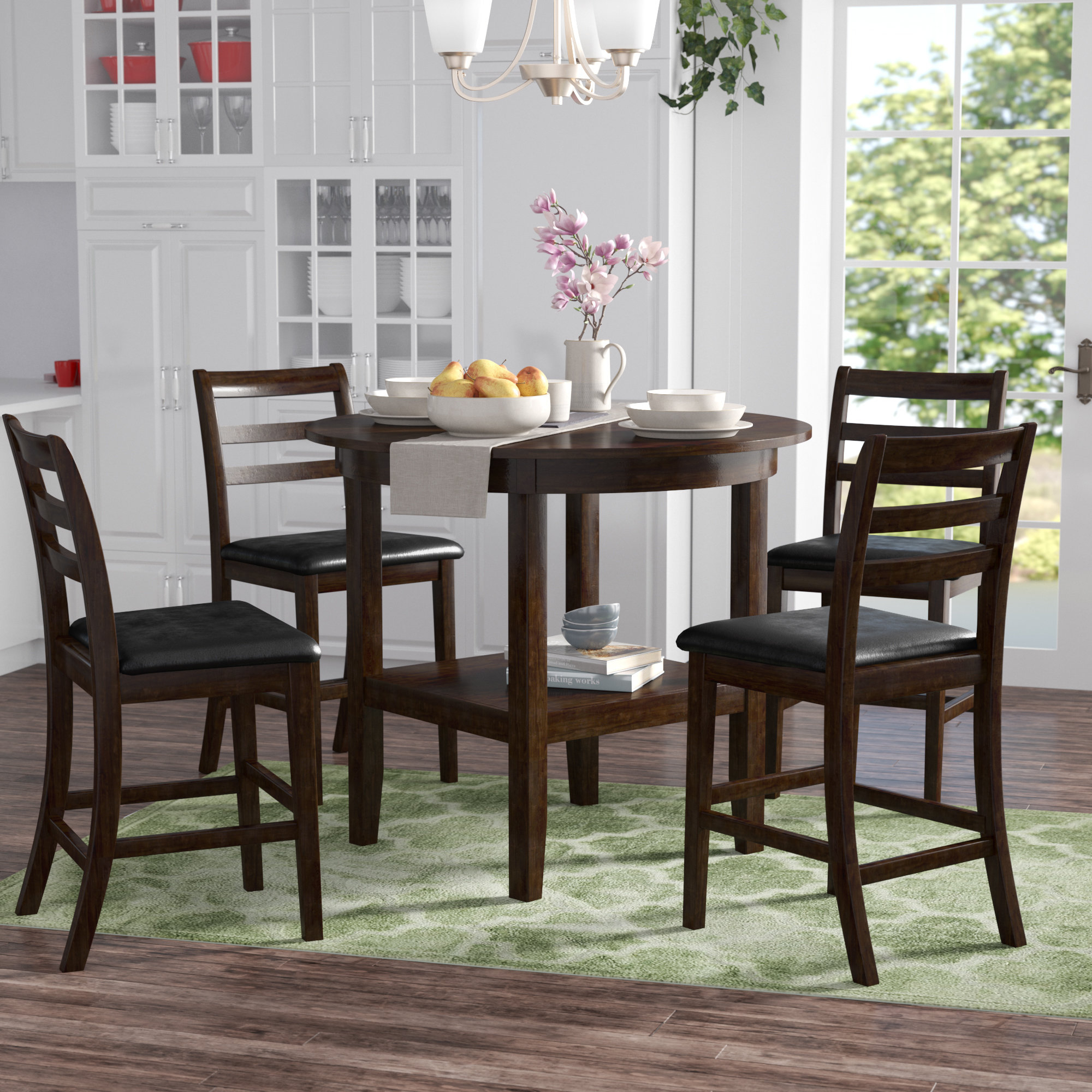 Gosselin 5 Piece Counter Height Dining Set Intended For Latest Denzel 5 Piece Counter Height Breakfast Nook Dining Sets (Image 12 of 20)