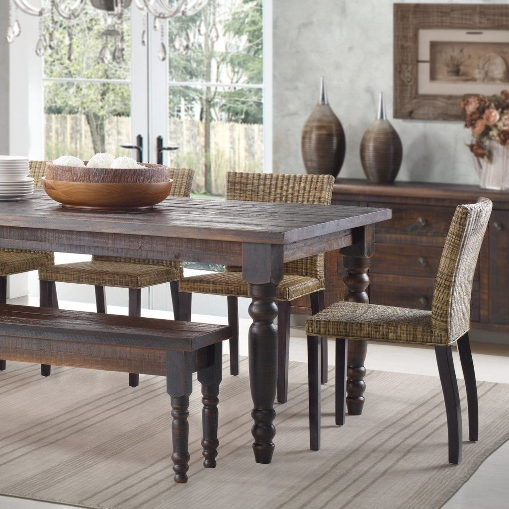 Grain Wood Furniture Valerie 63 Inch Solid Wood Dining Table Within Recent Evellen 5 Piece Solid Wood Dining Sets (Set Of 5) (View 2 of 20)