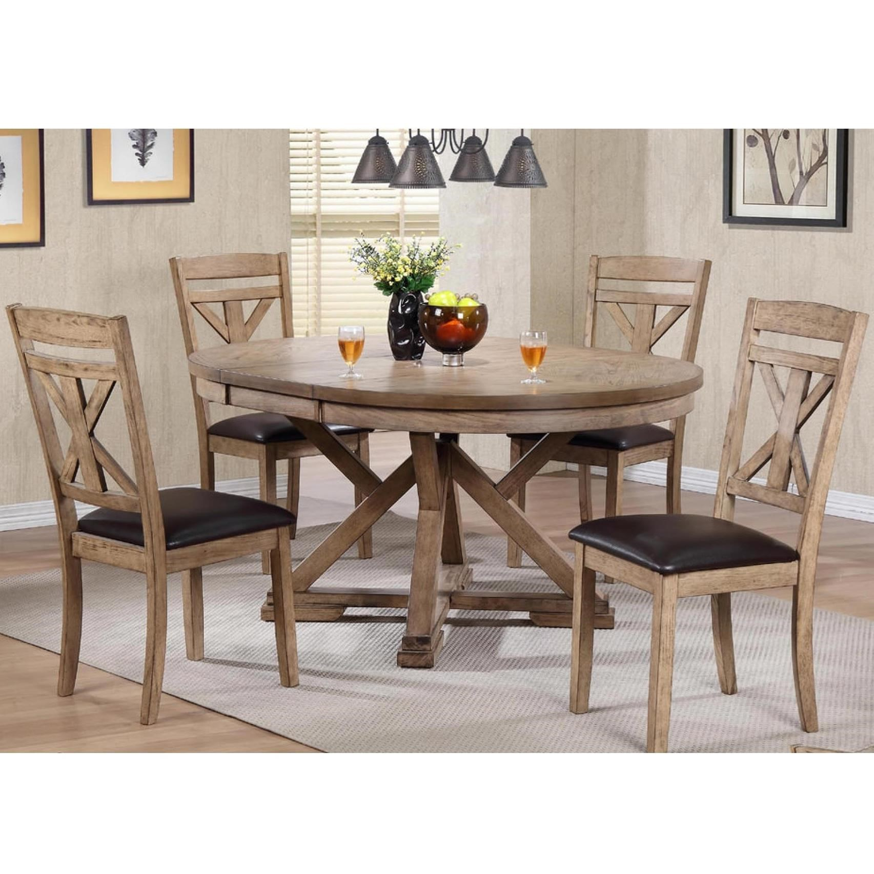 Grandview 5 Piece Dining Setwinners Only At Dunk & Bright Furniture Within Most Popular 5 Piece Dining Sets (View 7 of 20)