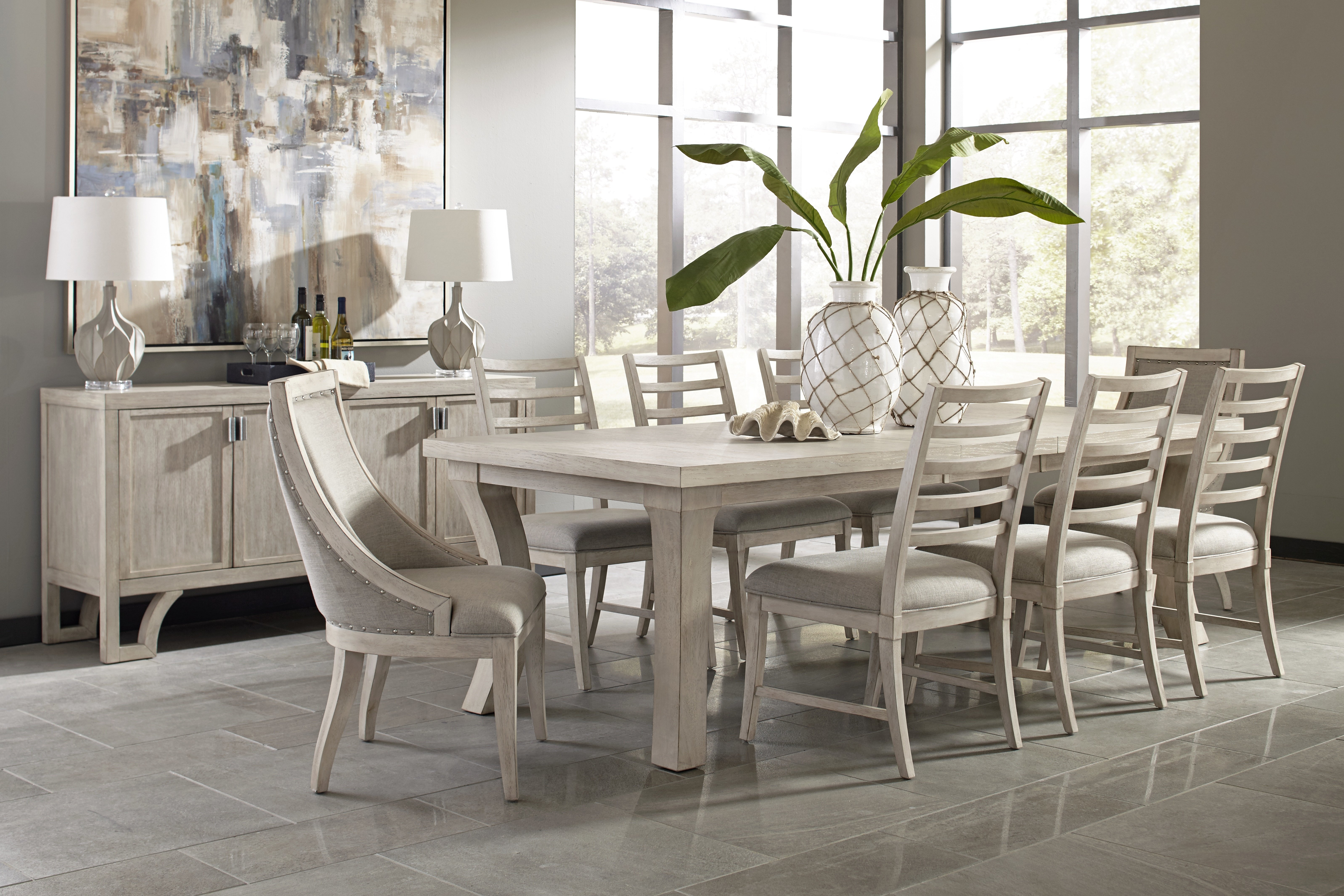 Graphite 9 Piece Extendable Solid Wood Dining Set With Most Popular Queener 5 Piece Dining Sets (Photo 8 of 20)