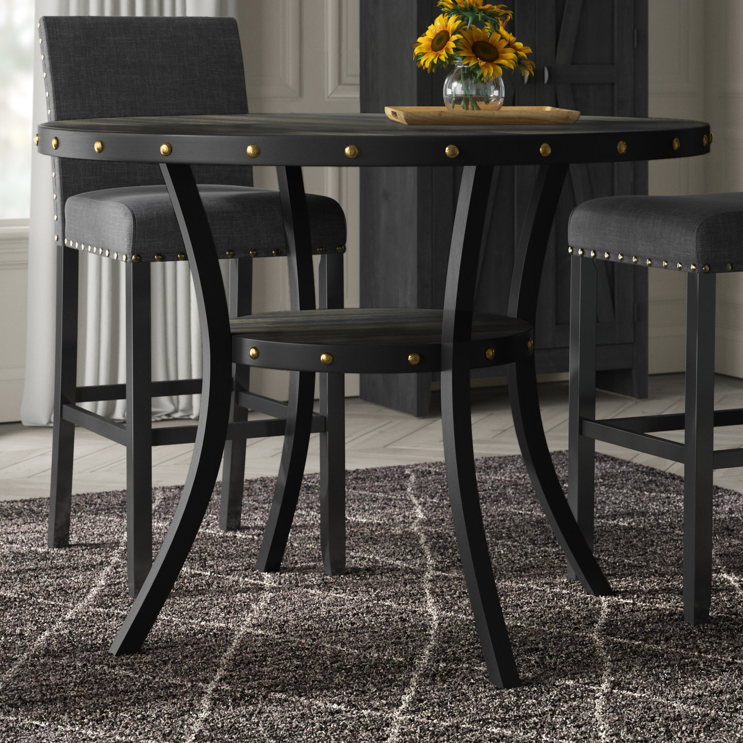 Greyleigh Mulberry 5 Piece Dining Set In 2019 Products Counter With Recent Mysliwiec 5 Piece Counter Height Breakfast Nook Dining Sets (View 17 of 20)