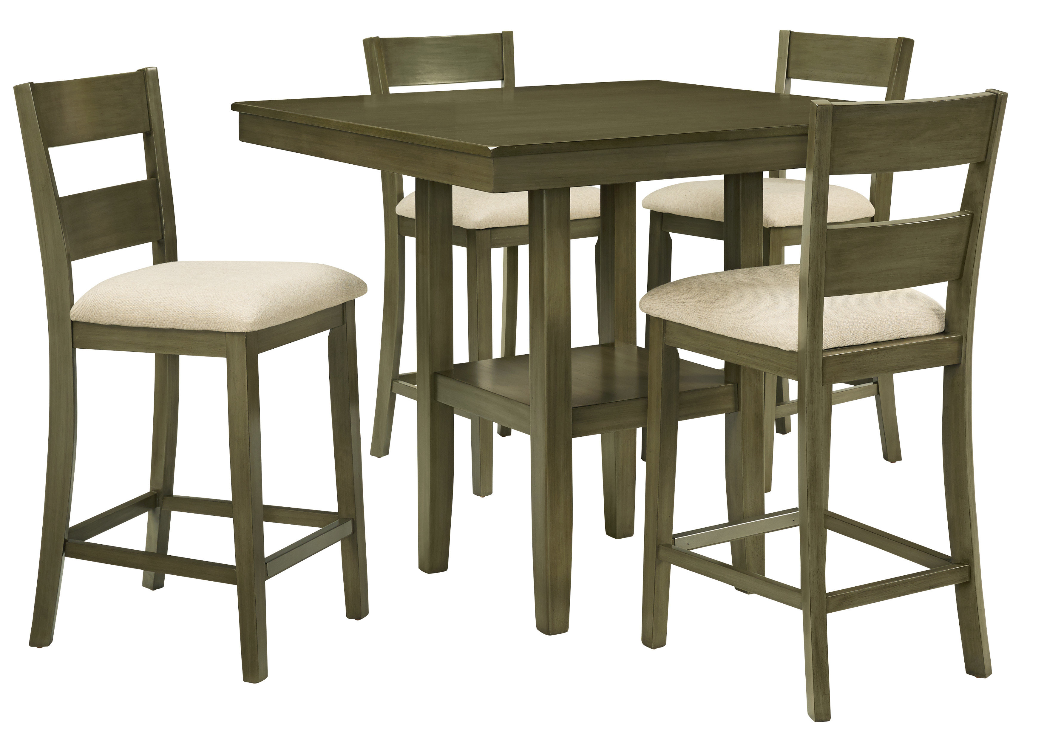Gwyneth 5 Piece Counter Height Dining Set For Most Recent Bettencourt 3 Piece Counter Height Dining Sets (View 18 of 20)
