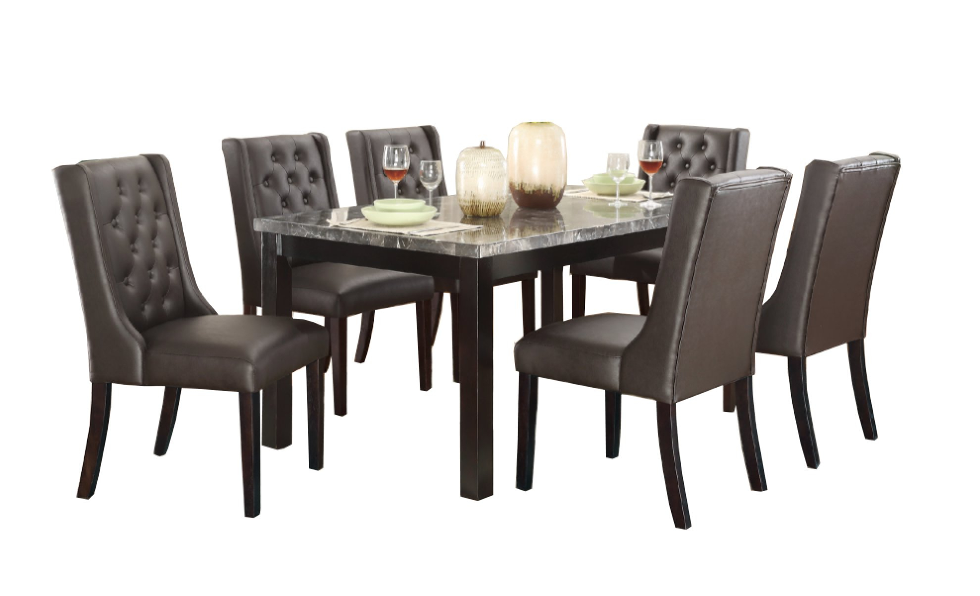 Haigh 7 Piece Dining Set Inside Current Laconia 7 Pieces Solid Wood Dining Sets (Set Of 7) (View 18 of 20)