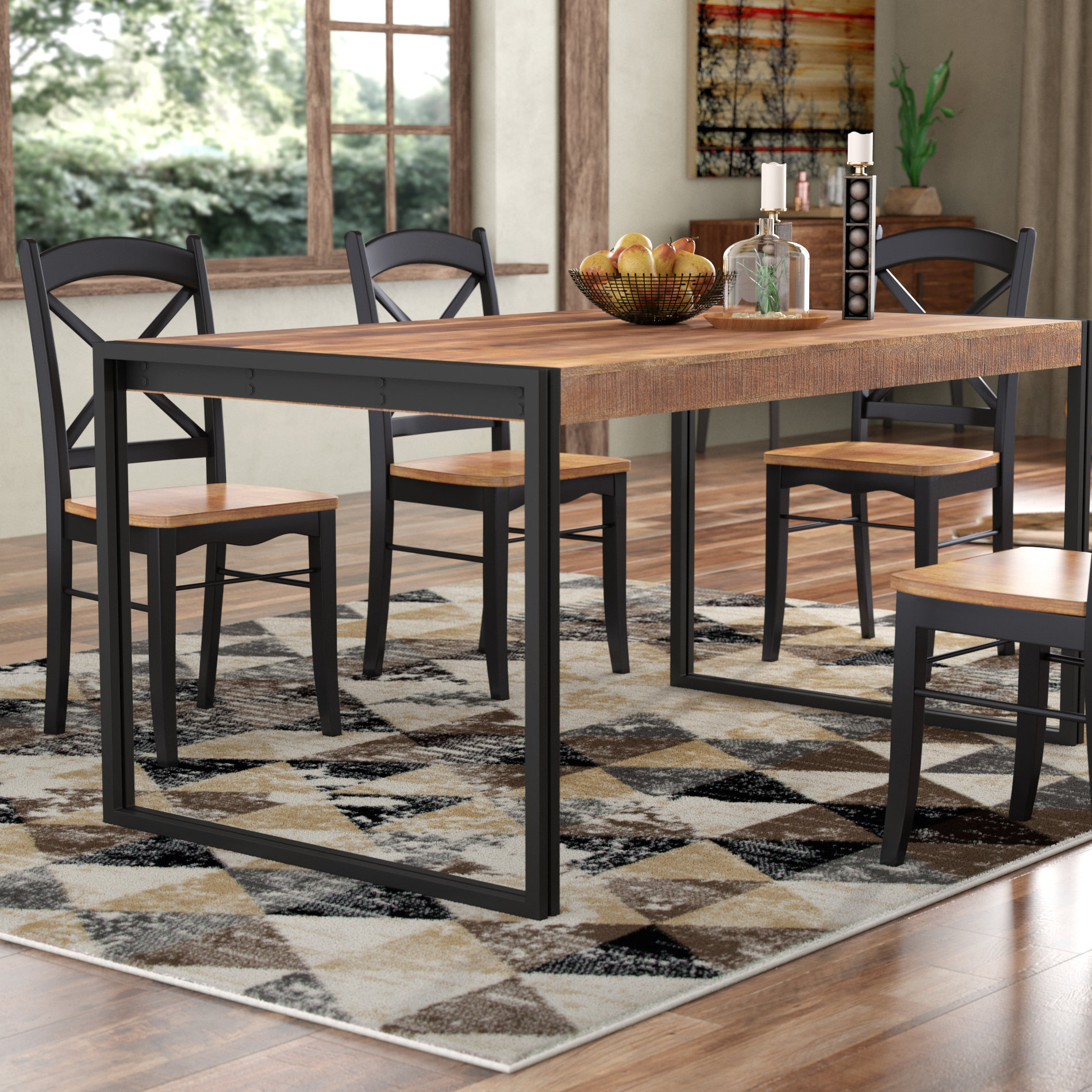 Haleigh Dining Table For Newest Cincinnati 3 Piece Dining Sets (Photo 5 of 20)