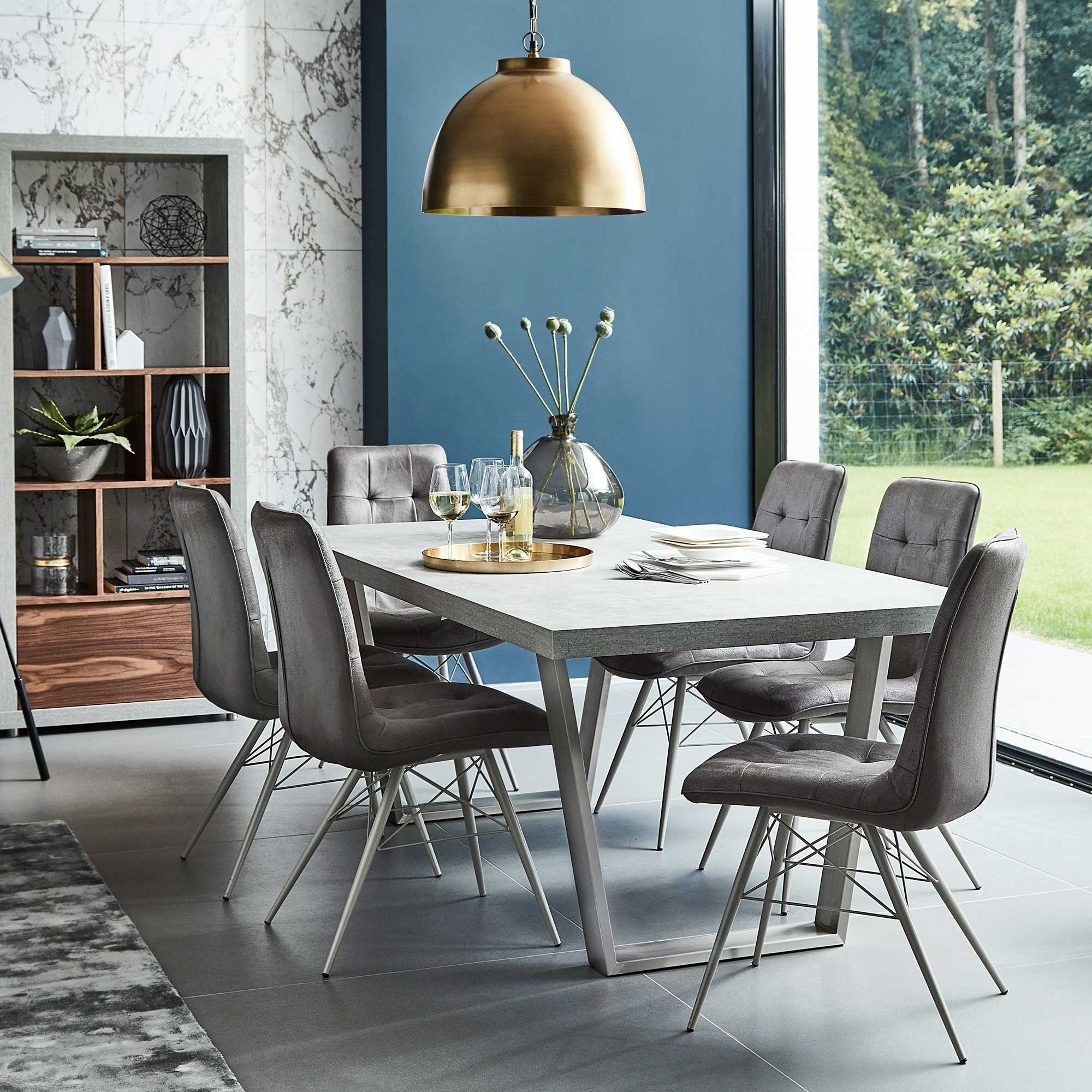 Halmstad Dining Table, Concrete | Tables | Dining Room Pertaining To Most Recently Released Nutter 3 Piece Dining Sets (Image 11 of 20)