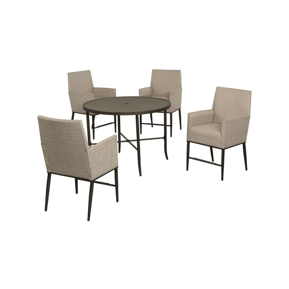 Hampton Bay Aria 5 Piece Patio High Dining Set | The Fillmore With Regard To Most Recent Aria 5 Piece Dining Sets (View 5 of 20)