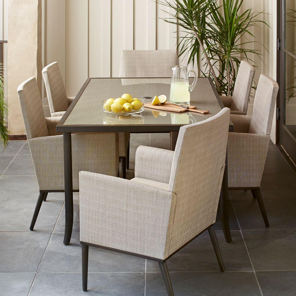 Hampton Bay Aria 7 Piece Patio Dining Set Within Most Current Aria 5 Piece Dining Sets (View 4 of 20)
