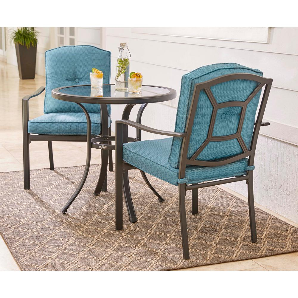 Hampton Bay Elmont 3 Piece Patio Dining Set With Regard To Best And Newest 3 Piece Dining Sets (View 16 of 20)