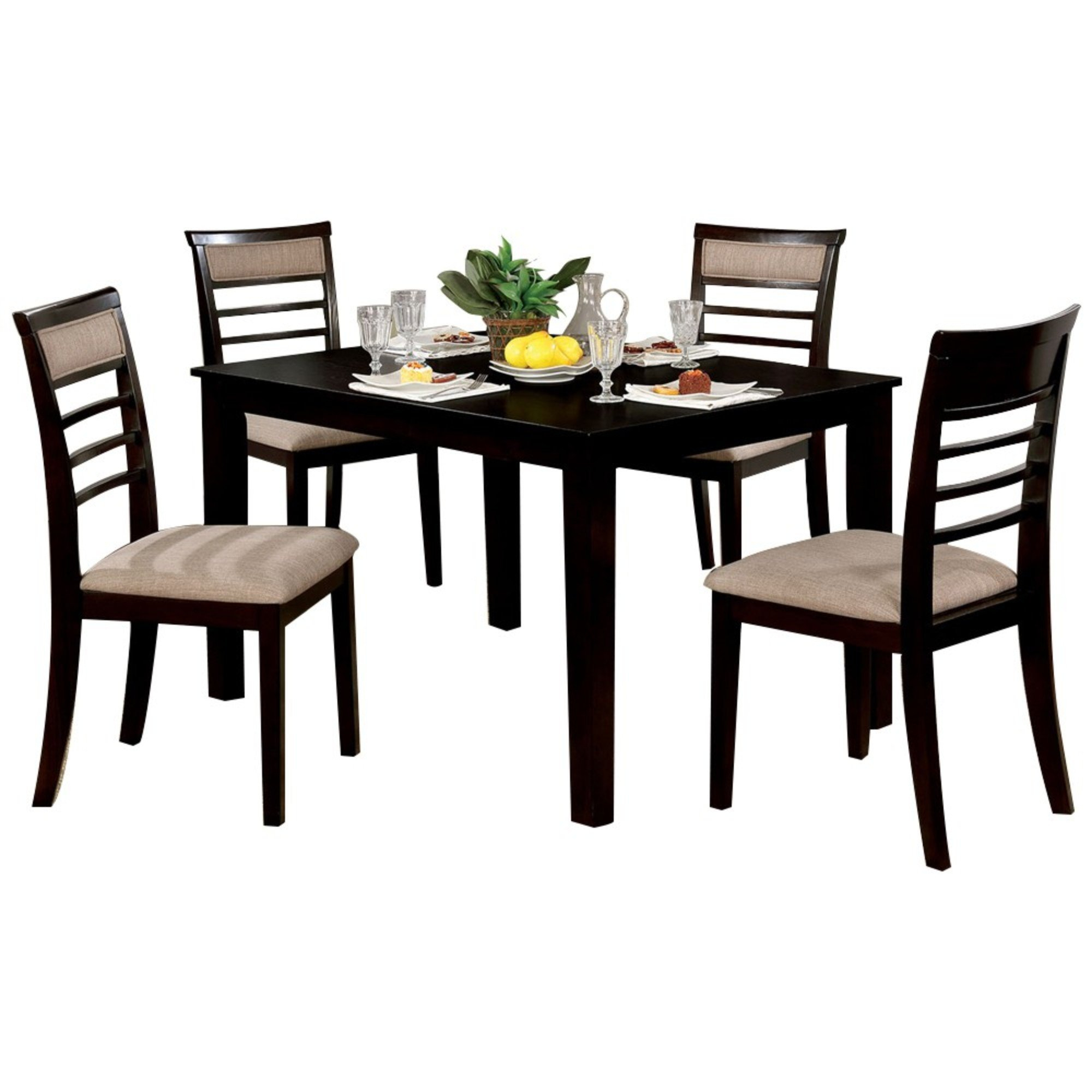 Hanska Wooden 5 Piece Counter Height Dining Table Set With Most Recently Released Hanska Wooden 5 Piece Counter Height Dining Table Sets (Set Of 5) (View 1 of 20)