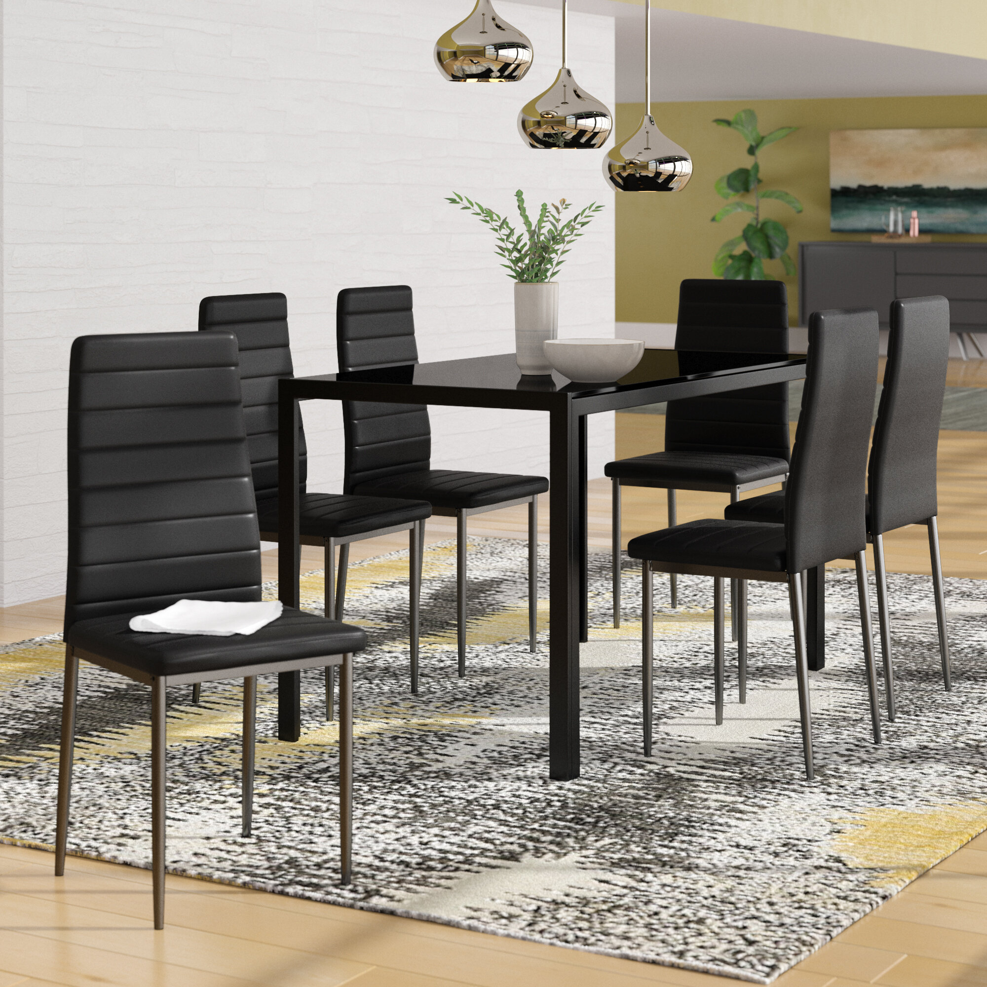 Haris 6 Piece Breakfast Nook Dining Set In Latest Linette 5 Piece Dining Table Sets (View 12 of 20)