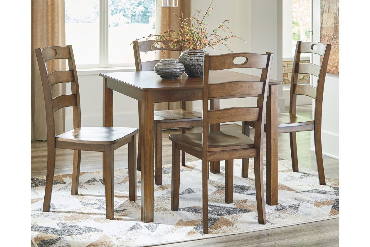 Hazelteen Dining Room Table And Chairs (Set Of 5) | Ashley Furniture For Newest Noyes 5 Piece Dining Sets (Photo 15 of 20)