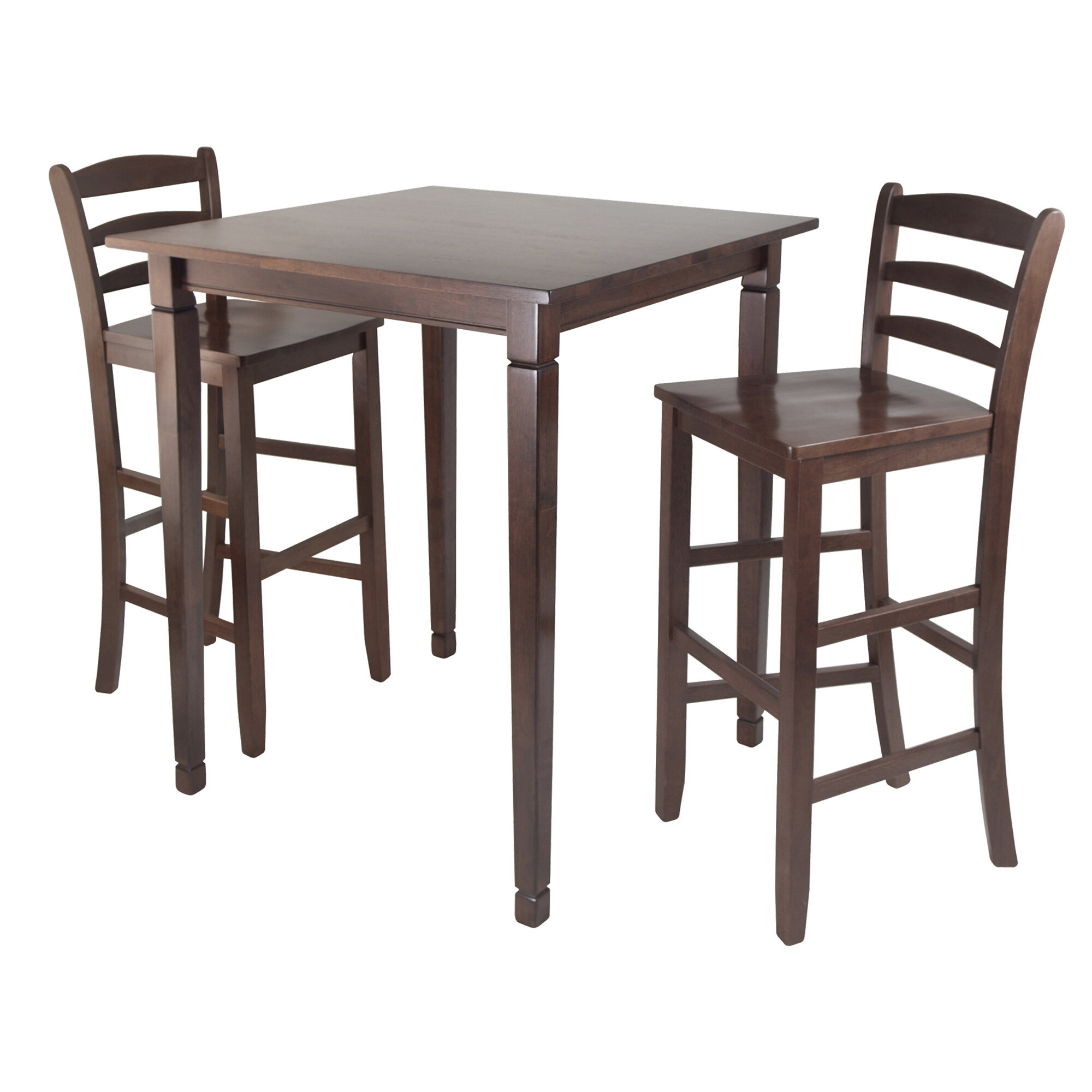 Hemphill 3 Piece Counter Height Pub Table Set With Most Current Bettencourt 3 Piece Counter Height Solid Wood Dining Sets (View 6 of 20)