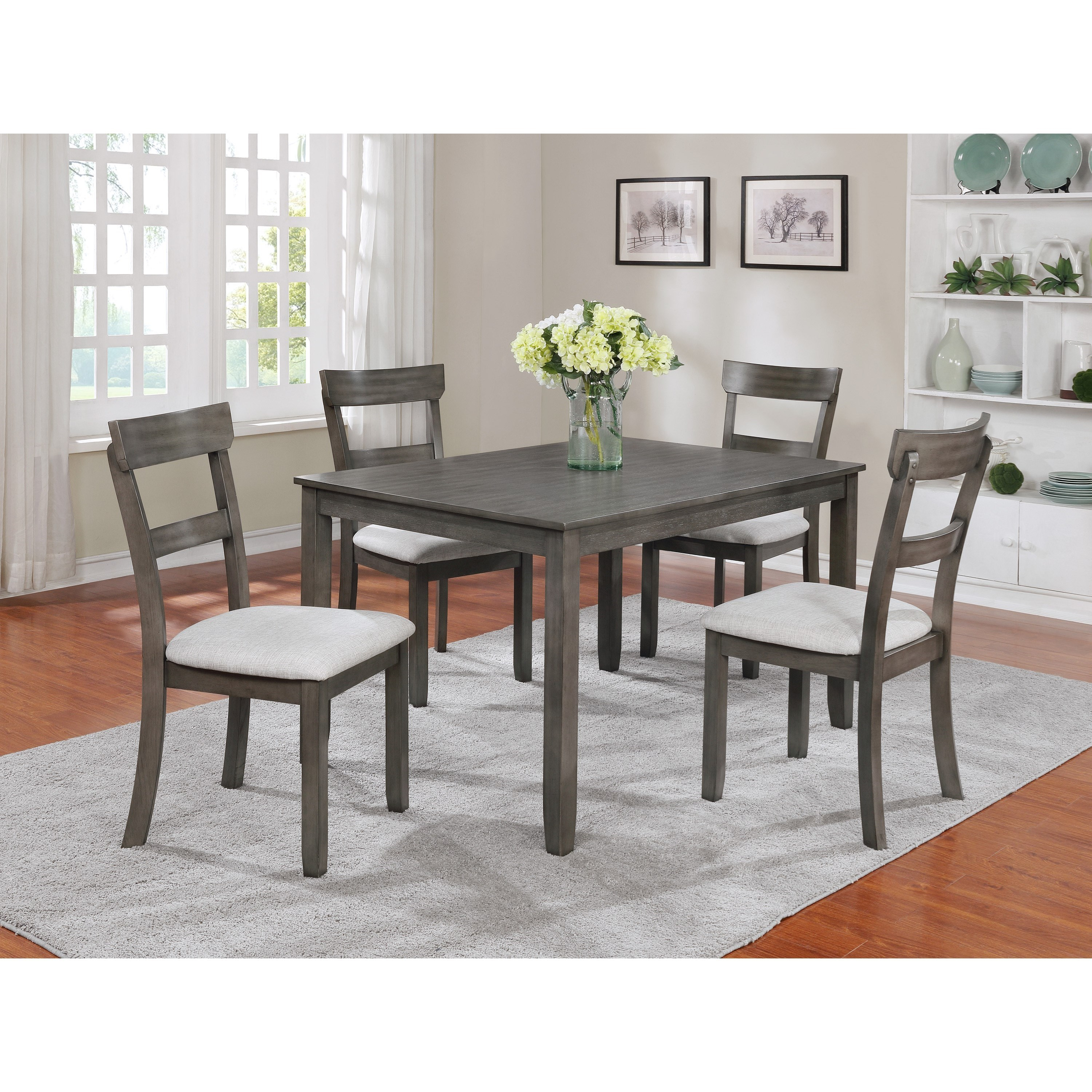 Henderson 5 Piece Dining Table And Chair Setcrown Mark At Dunk & Bright Furniture In Recent 5 Piece Dining Sets (View 2 of 20)