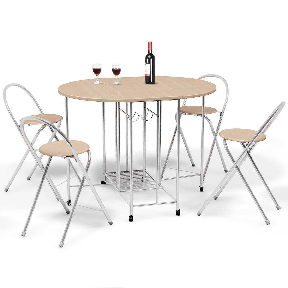 Holderman 5 Piece Counter Height Extendable Dining Set With Regard To Current Mulvey 5 Piece Dining Sets (Image 7 of 20)