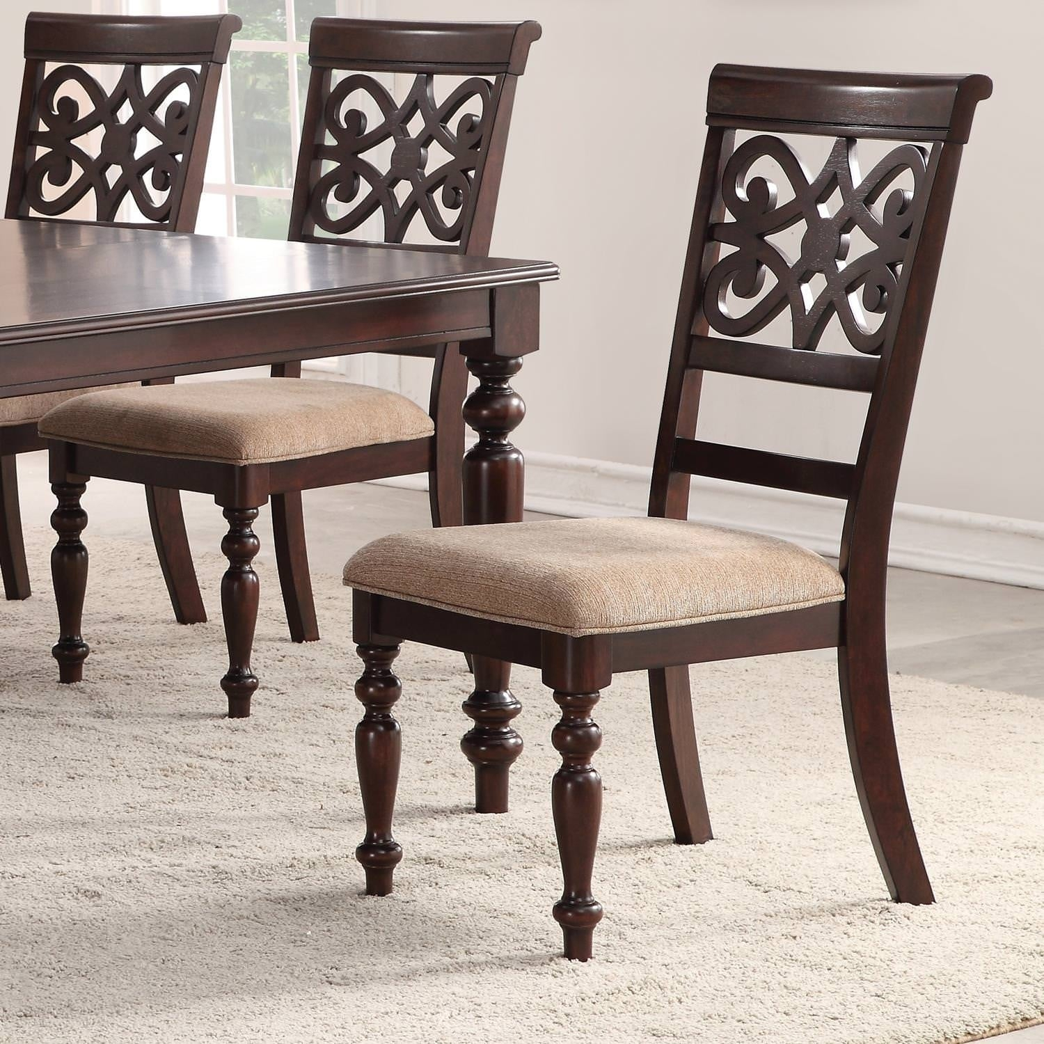 Home Source Laconia Walnut 5 Piece Dining Set Pertaining To Most Current Laconia 7 Pieces Solid Wood Dining Sets (Set Of 7) (View 10 of 20)