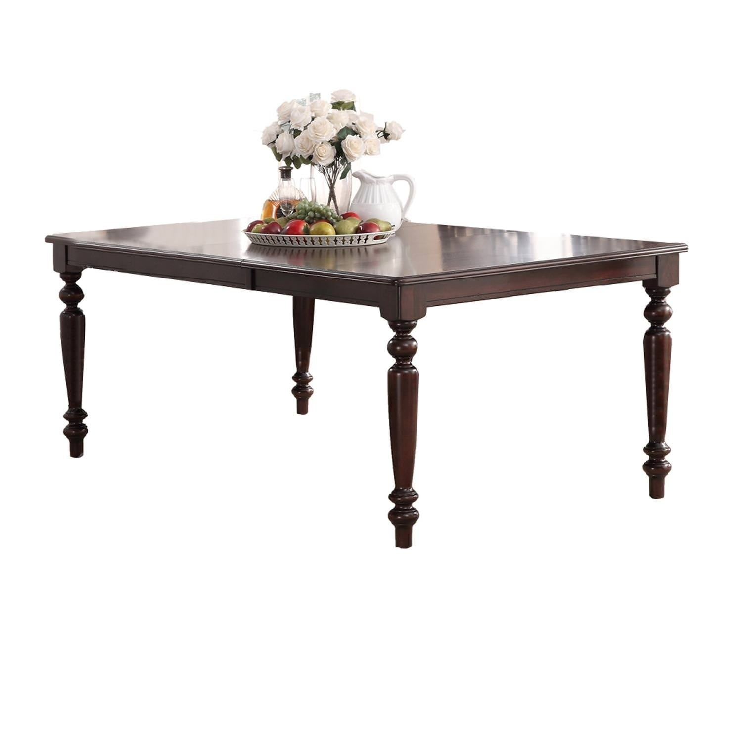 Home Source Laconia Walnut 5 Piece Dining Set With Regard To Most Current Laconia 7 Pieces Solid Wood Dining Sets (Set Of 7) (Image 11 of 20)