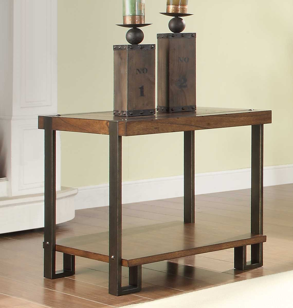 Homelegance 3438 04 Natural Brown Northwood End Table Intended For Most Up To Date Northwoods 3 Piece Dining Sets (Image 8 of 20)
