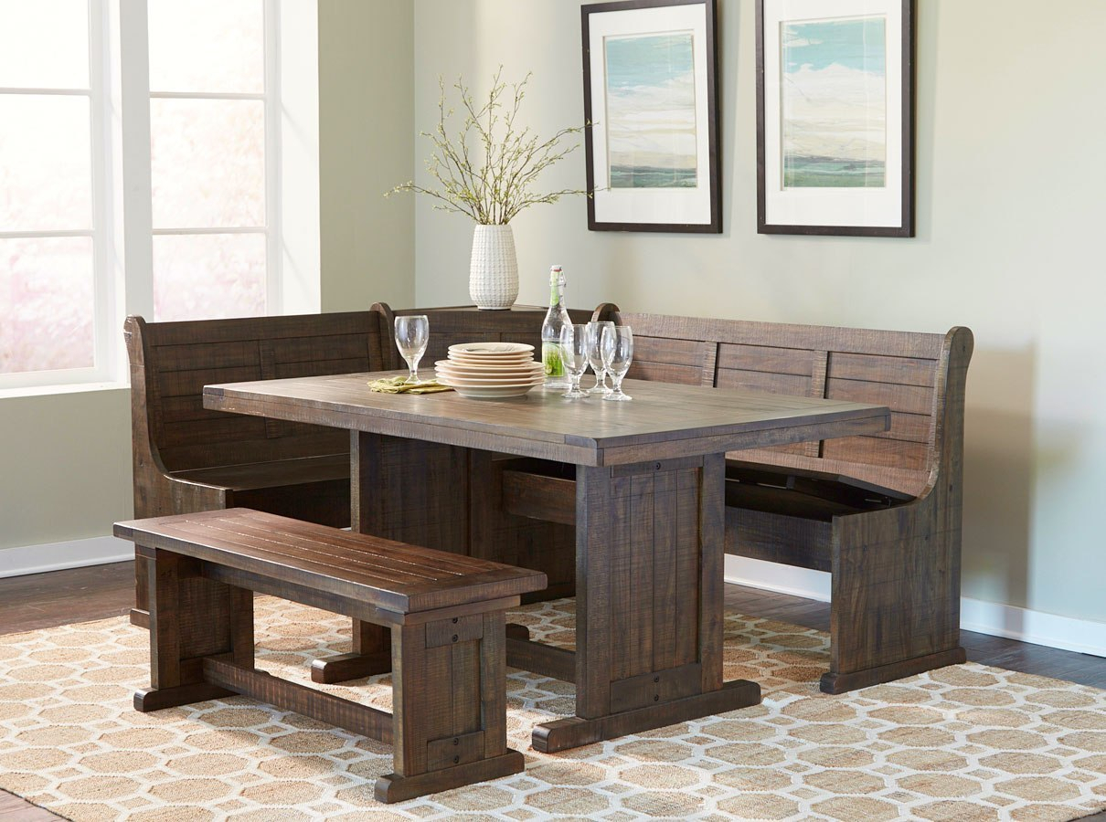 Homestead Breakfast Nook Set Within 2018 Liles 5 Piece Breakfast Nook Dining Sets (Image 9 of 20)