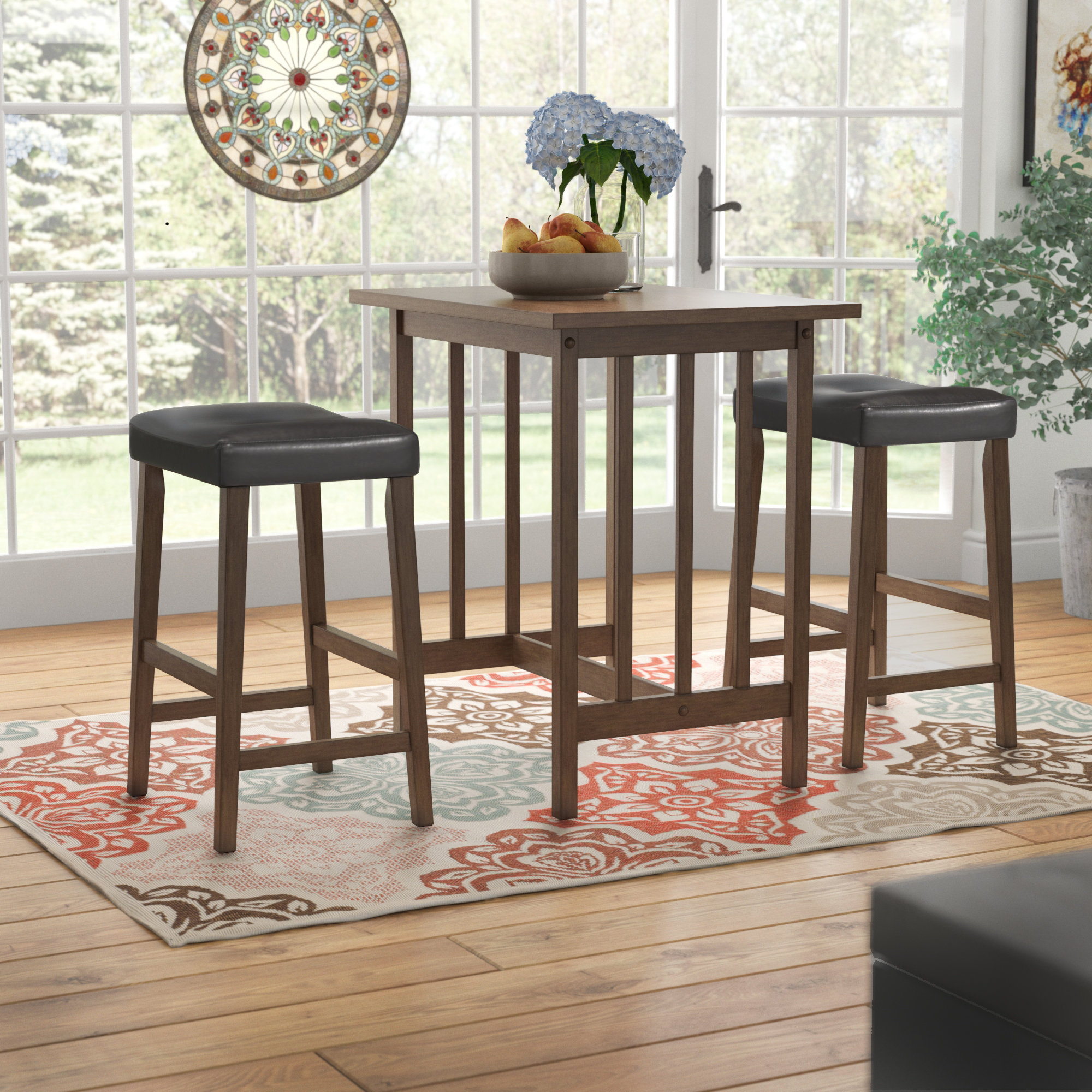 Hood Canal 3 Piece Dining Set Inside Most Up To Date Lonon 3 Piece Dining Sets (Image 8 of 20)