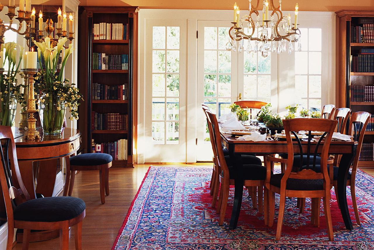 How To Choose The Right Dining Room Rug Regarding Current Partin 3 Piece Dining Sets (Image 12 of 20)
