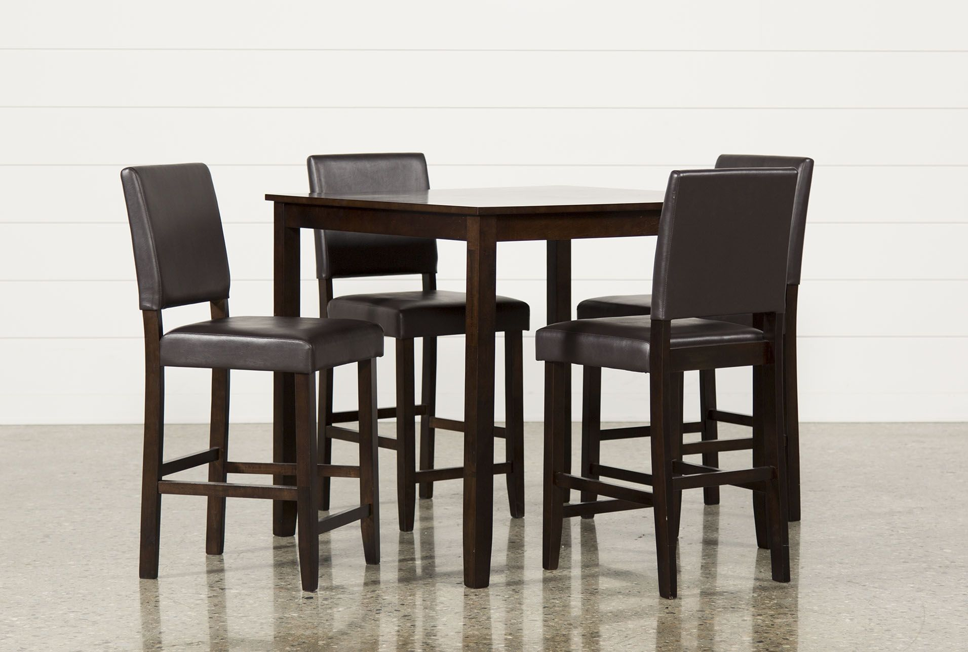 Jarrod 5 Piece Counter Set, Cappucino, Kitchen & Dining Furniture Pertaining To 2018 Jarrod 5 Piece Dining Sets (View 2 of 20)
