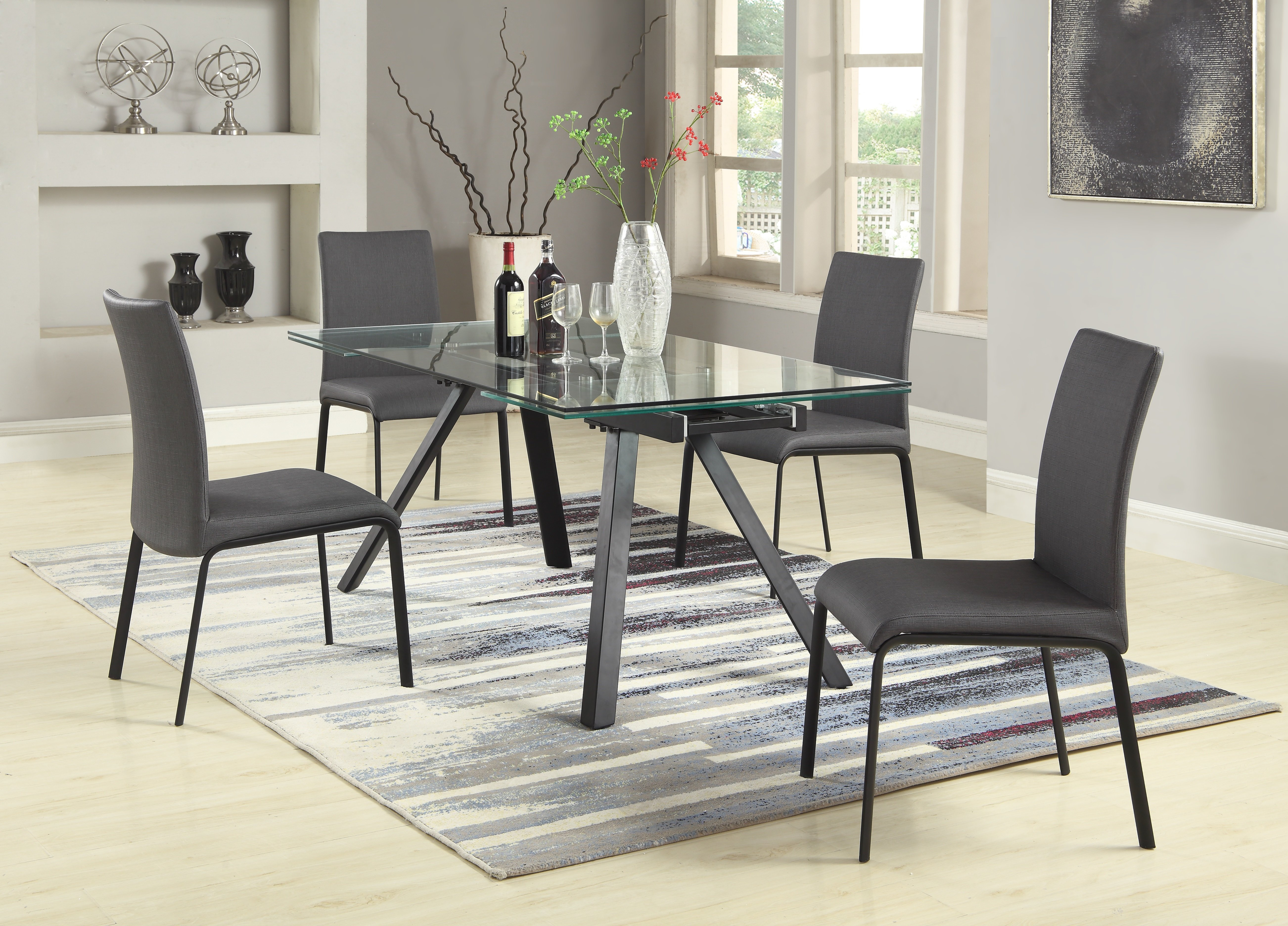 Julianne 5 Piece Extendable Dining Set With Regard To Recent Mulvey 5 Piece Dining Sets (View 9 of 20)